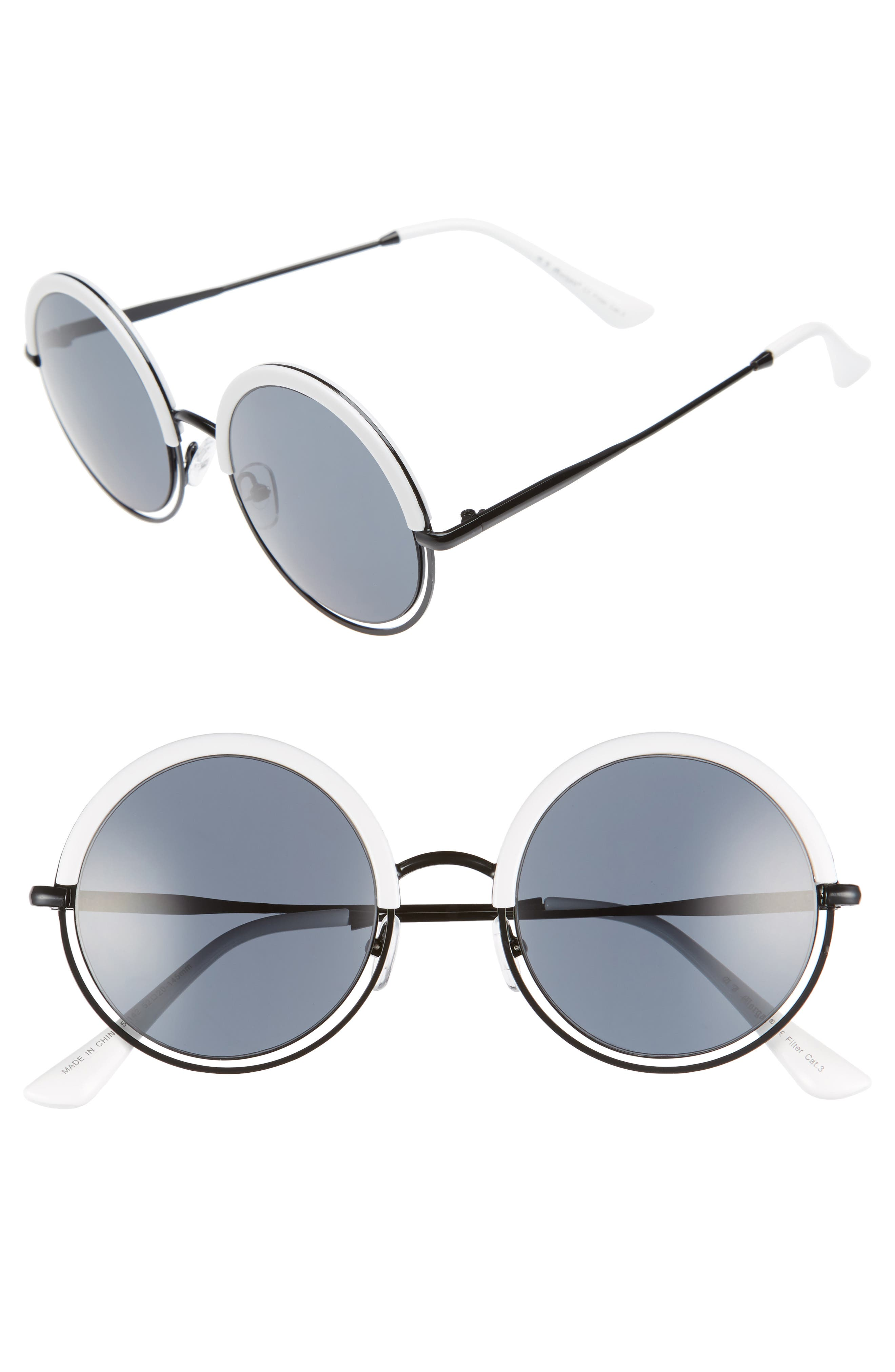 A.J. MORGAN Pancakes 52mm Gradient Lens Round Sunglasses