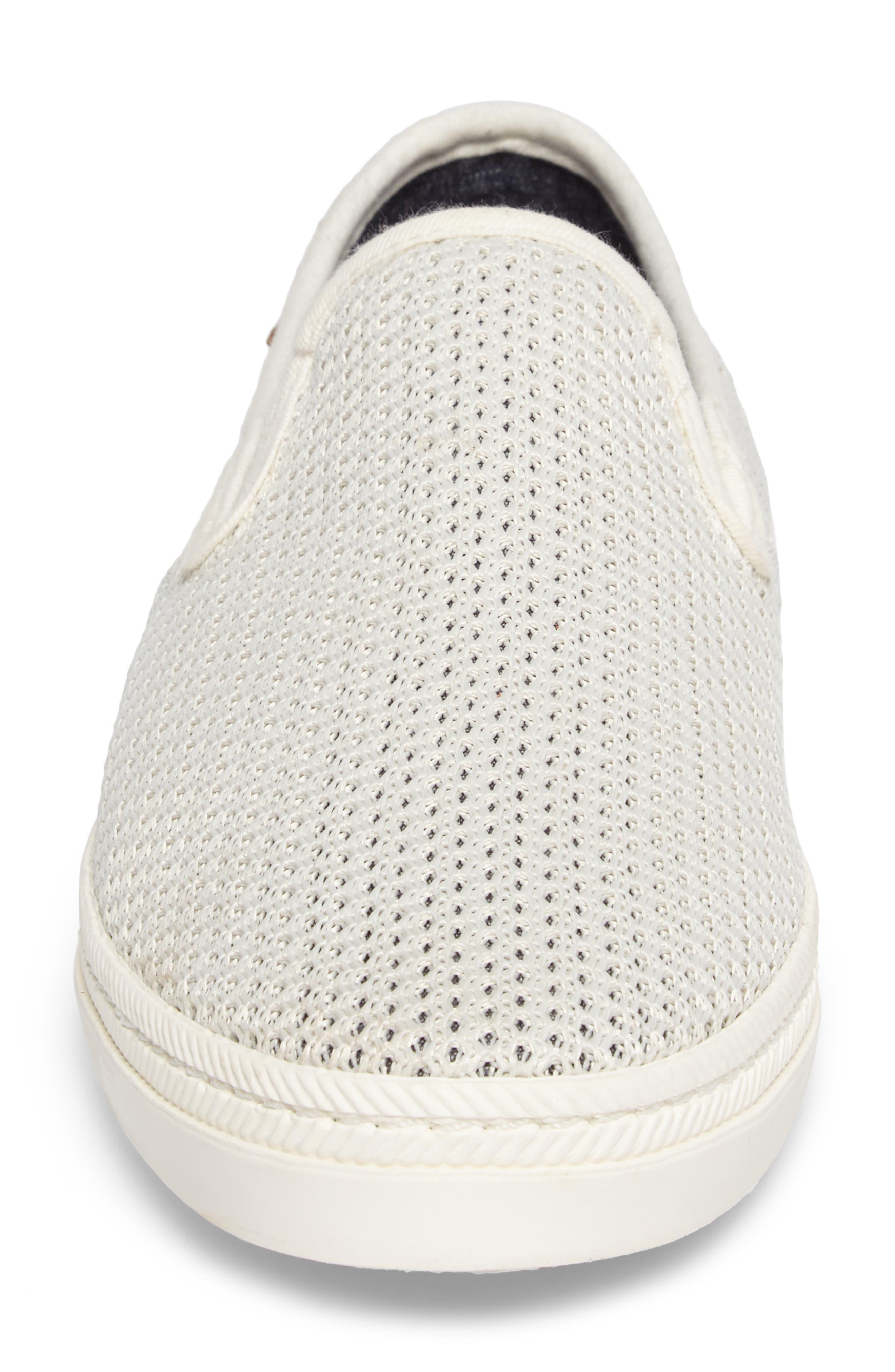 Delray Woven Slip-On Sneaker,                             Alternate thumbnail 4, color,                             Bone Beige Fabric