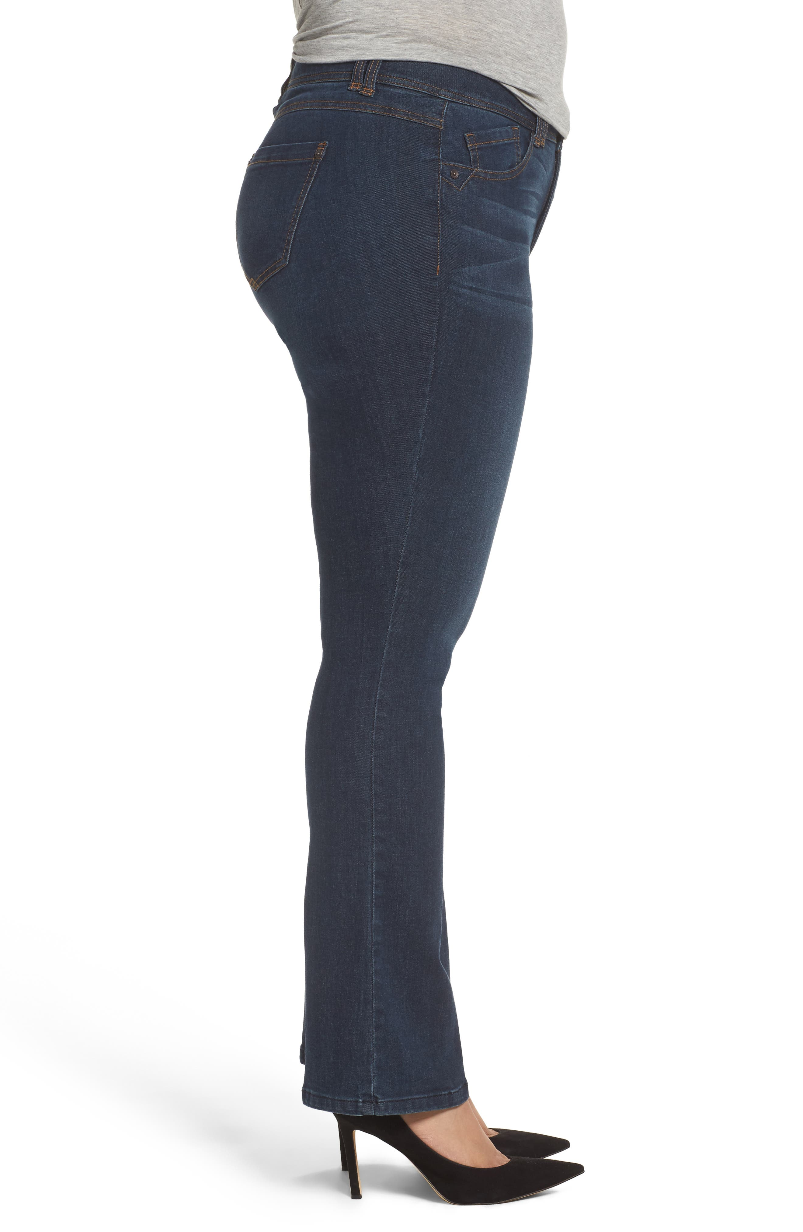 Alternate Image 3  - Wit & Wisdom Ab-solution Itty Bitty Bootcut Jeans (Plus Size) (Nordstrom Exclusive)