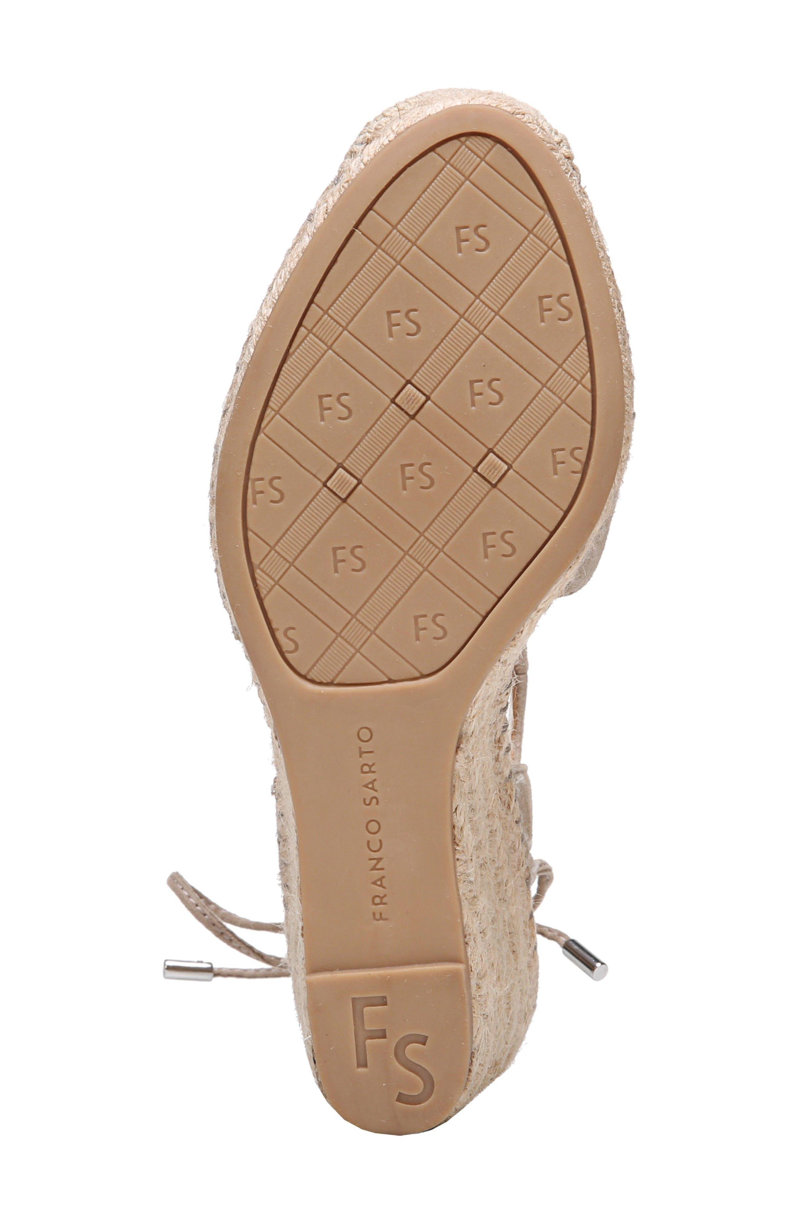 Mariska Espadrille Wedge Sandal,                             Alternate thumbnail 6, color,                             Satin Taupe Suede
