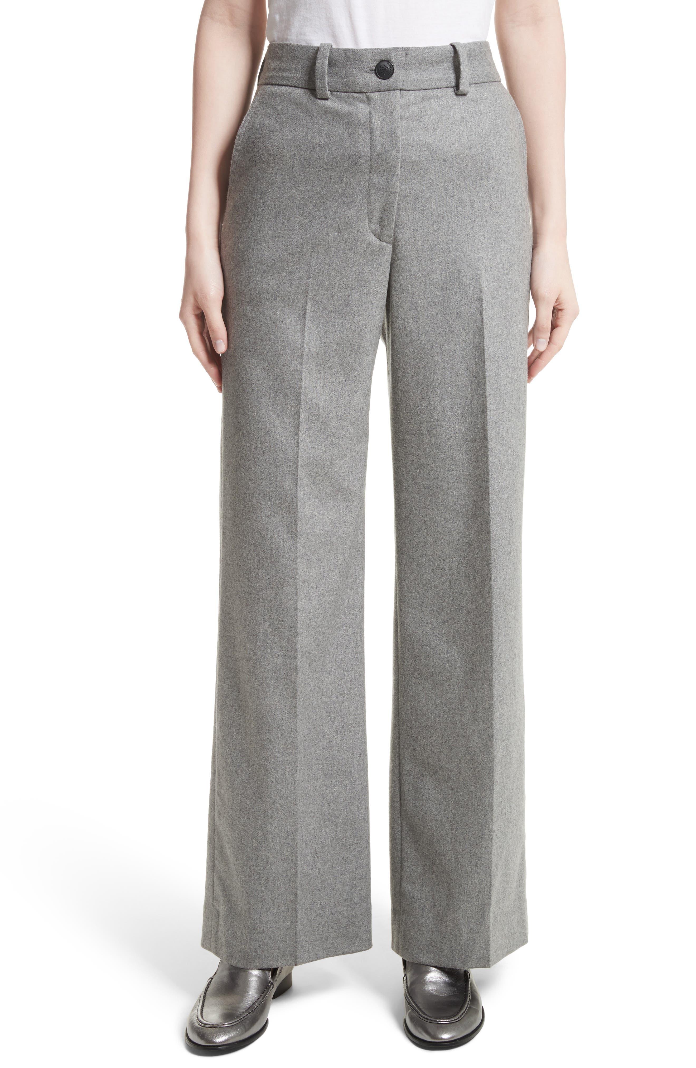Crane Wool Blend Pants,                         Main,                         color, Heather Grey