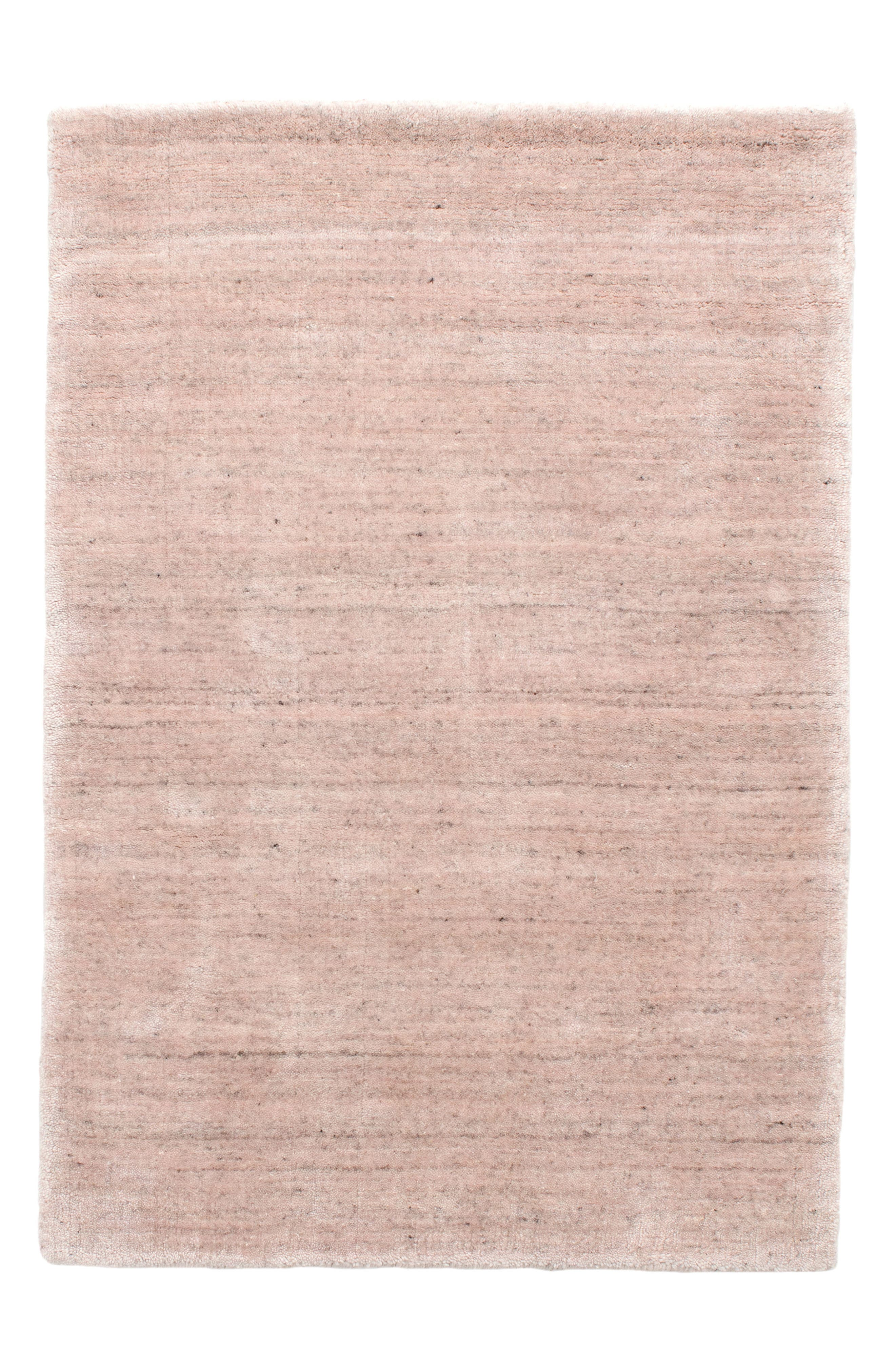 Icelandia Slipper Hand Knotted Rug,                             Main thumbnail 1, color,                             Pink