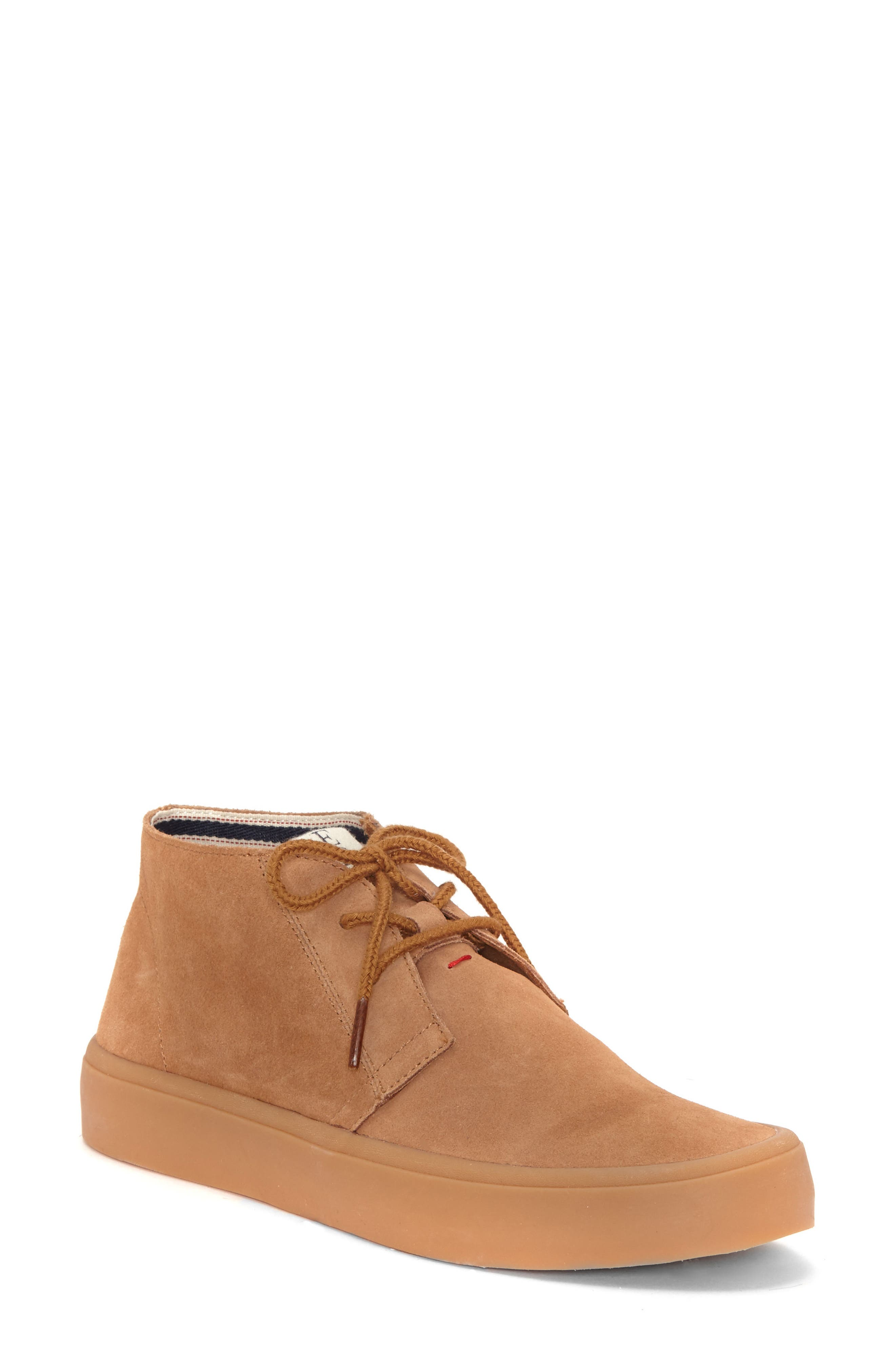 Dax Chukka Sneaker,                             Main thumbnail 1, color,                             Honey Suede