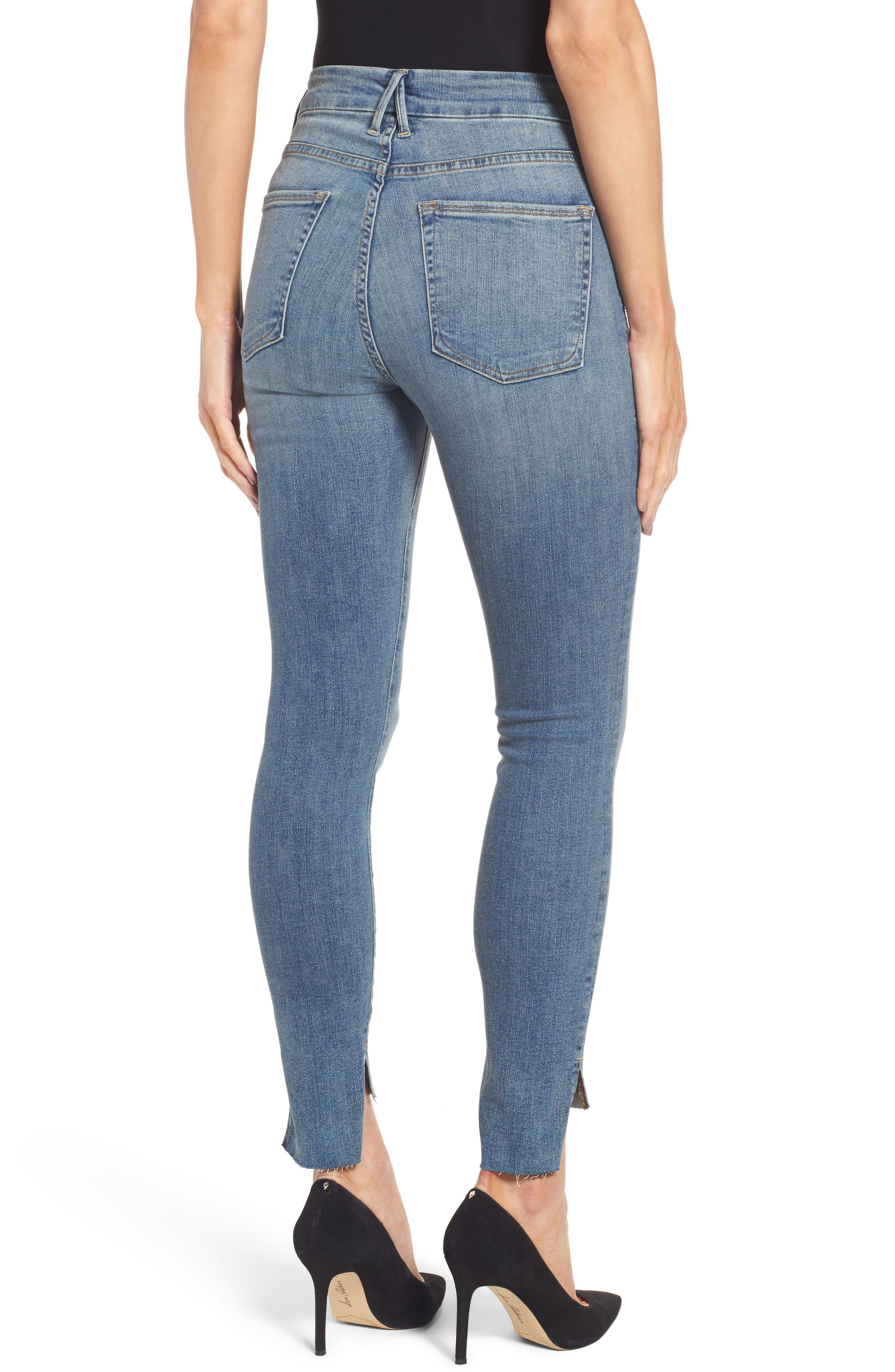 Alternate Image 2  - Good American Good Legs High Waist Skinny Jeans (Blue 082) (Extended Sizes)