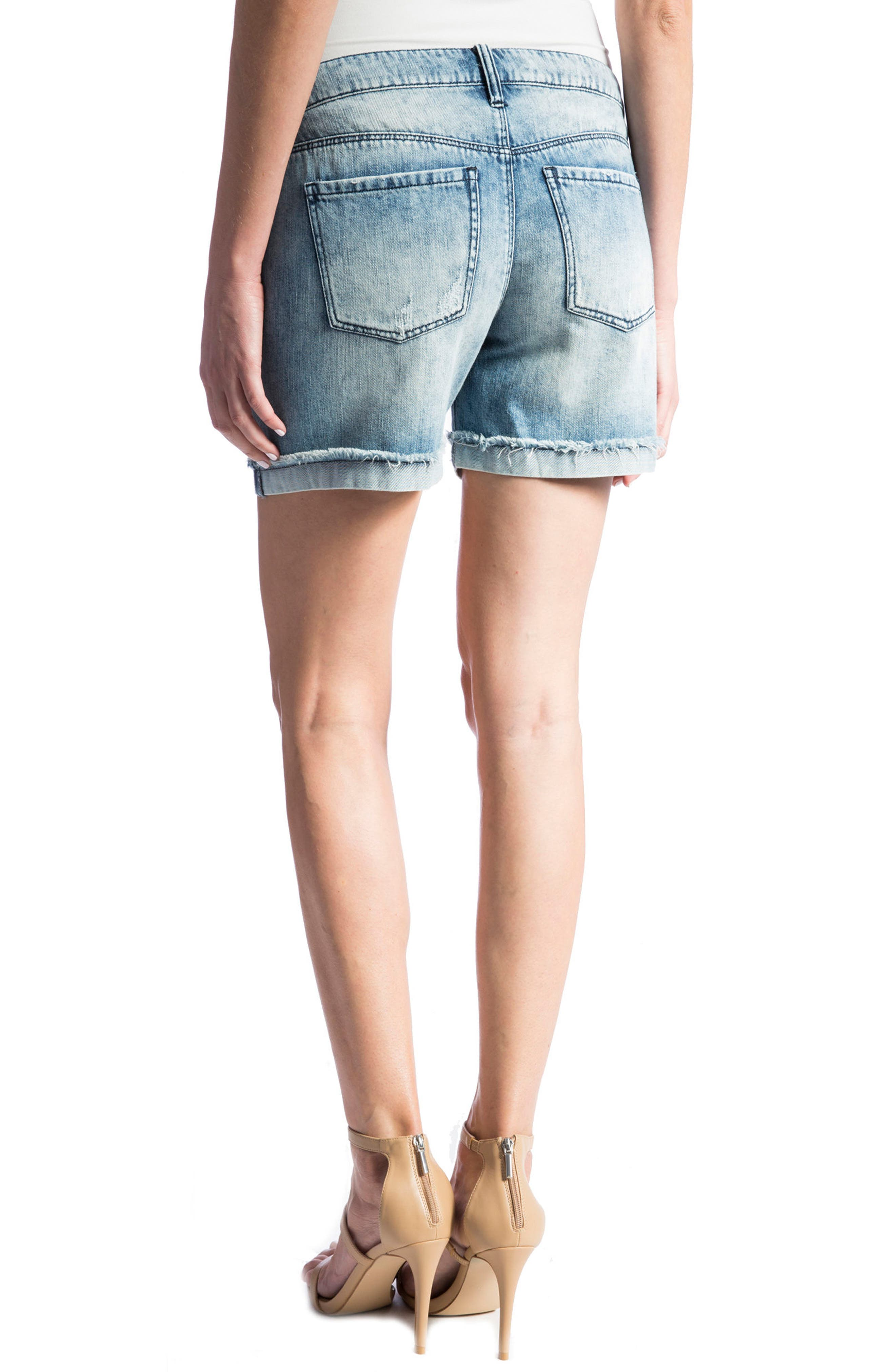 Alternate Image 5  - Liverpool Jeans Company Elliot Denim Boyfriend Shorts (Stockton Destruct)