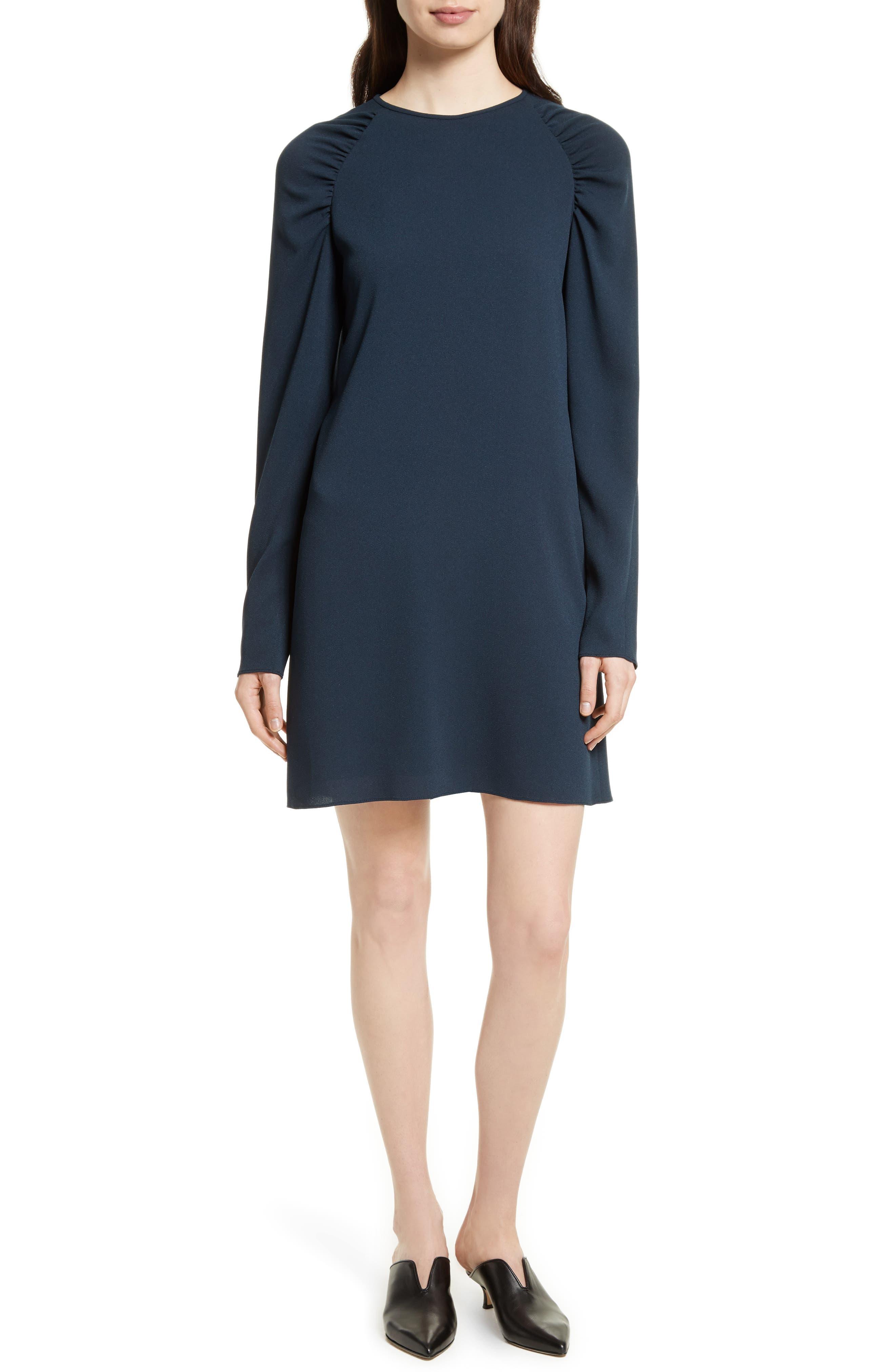 Sav Crepe Shift Dress,                         Main,                         color, Navy