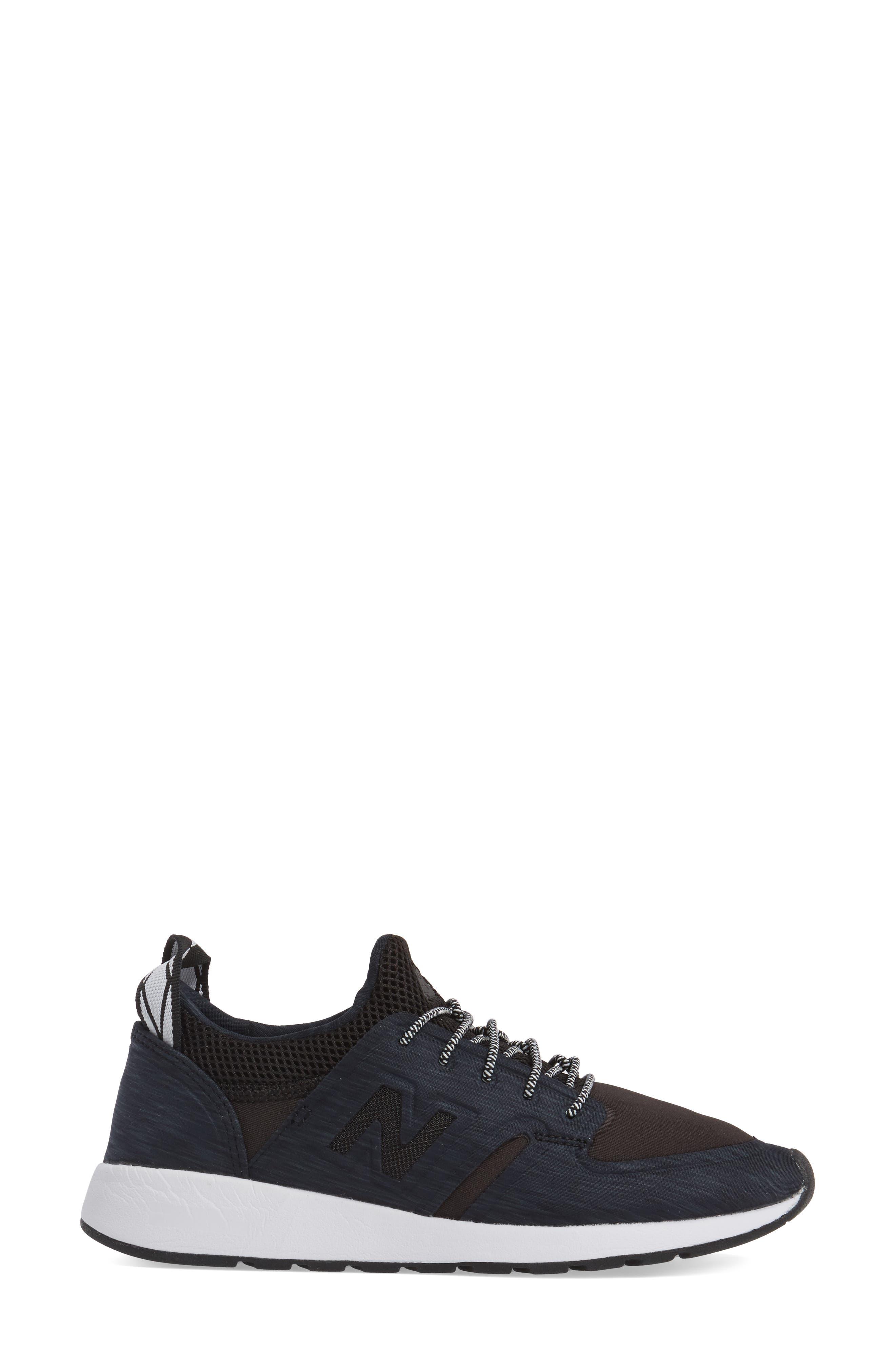 Sporty Style 420 Sneaker,                             Alternate thumbnail 3, color,                             Black