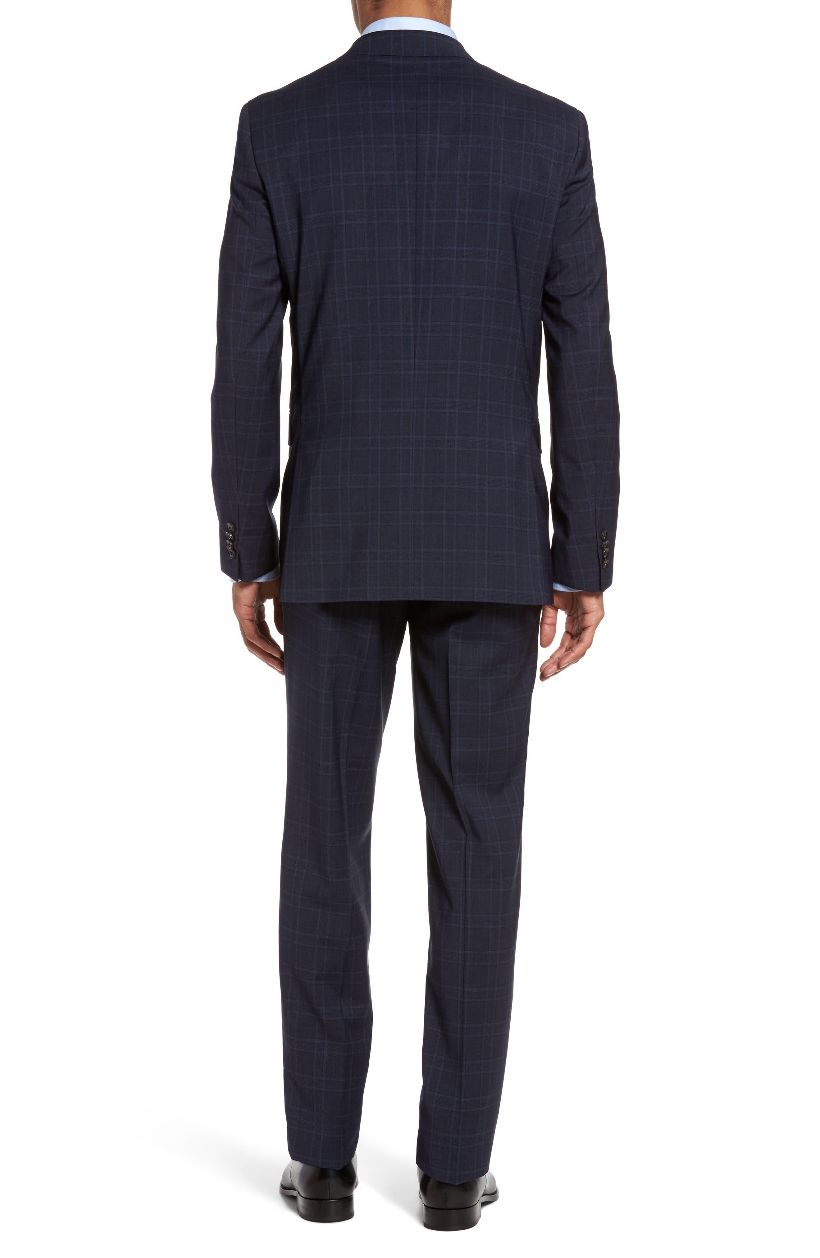 Jay Trim Fit Plaid Wool Suit,                             Alternate thumbnail 2, color,                             Blue