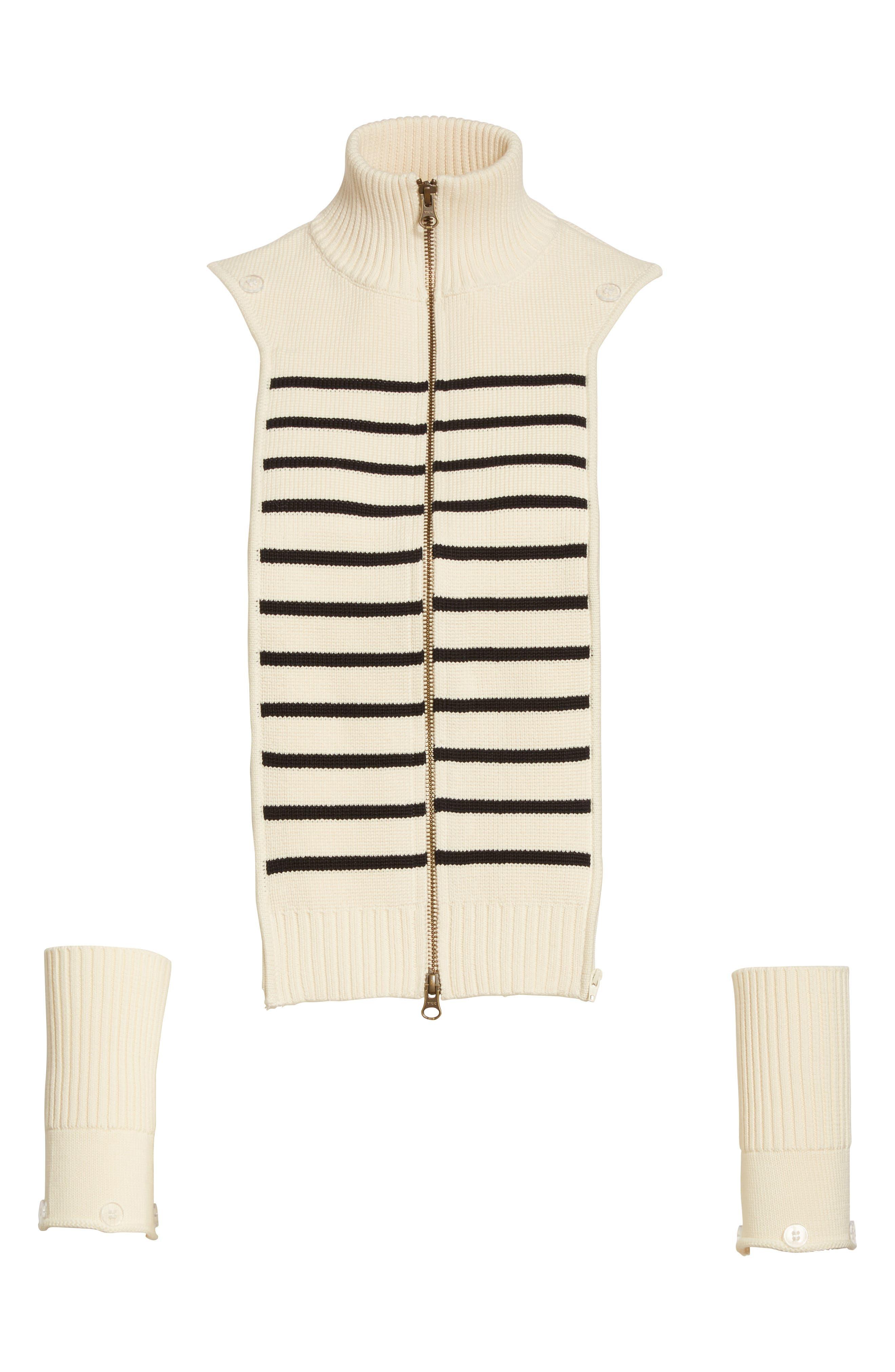 Alternate Image 1 Selected - Veronica Beard Mariner Stripe Dickey & Cuffs