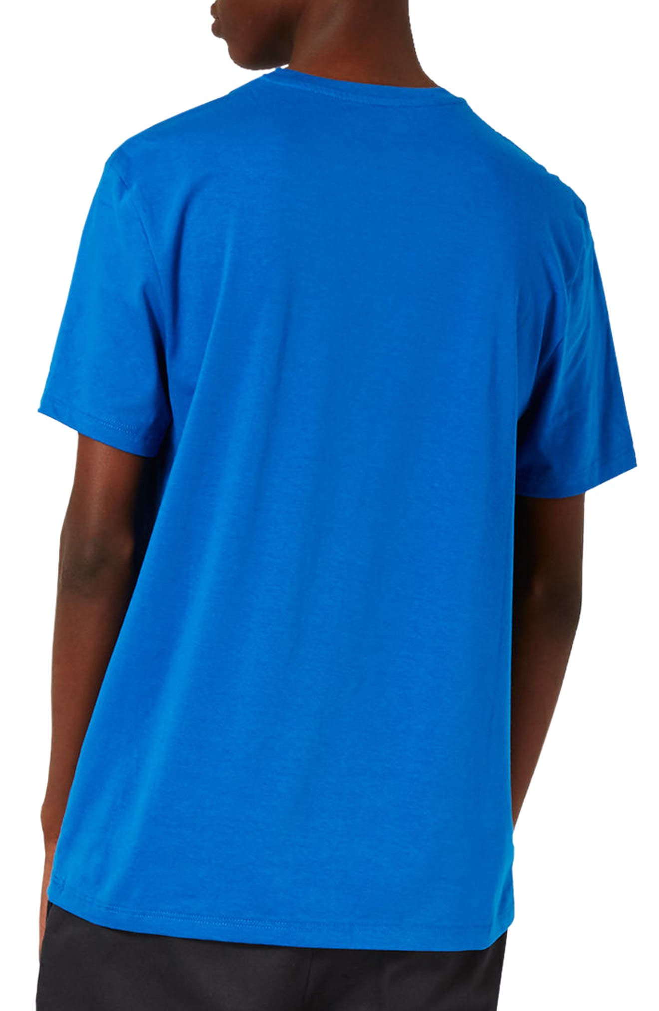 Slim Fit Crewneck T-Shirt,                             Alternate thumbnail 2, color,                             Brilliant Blue
