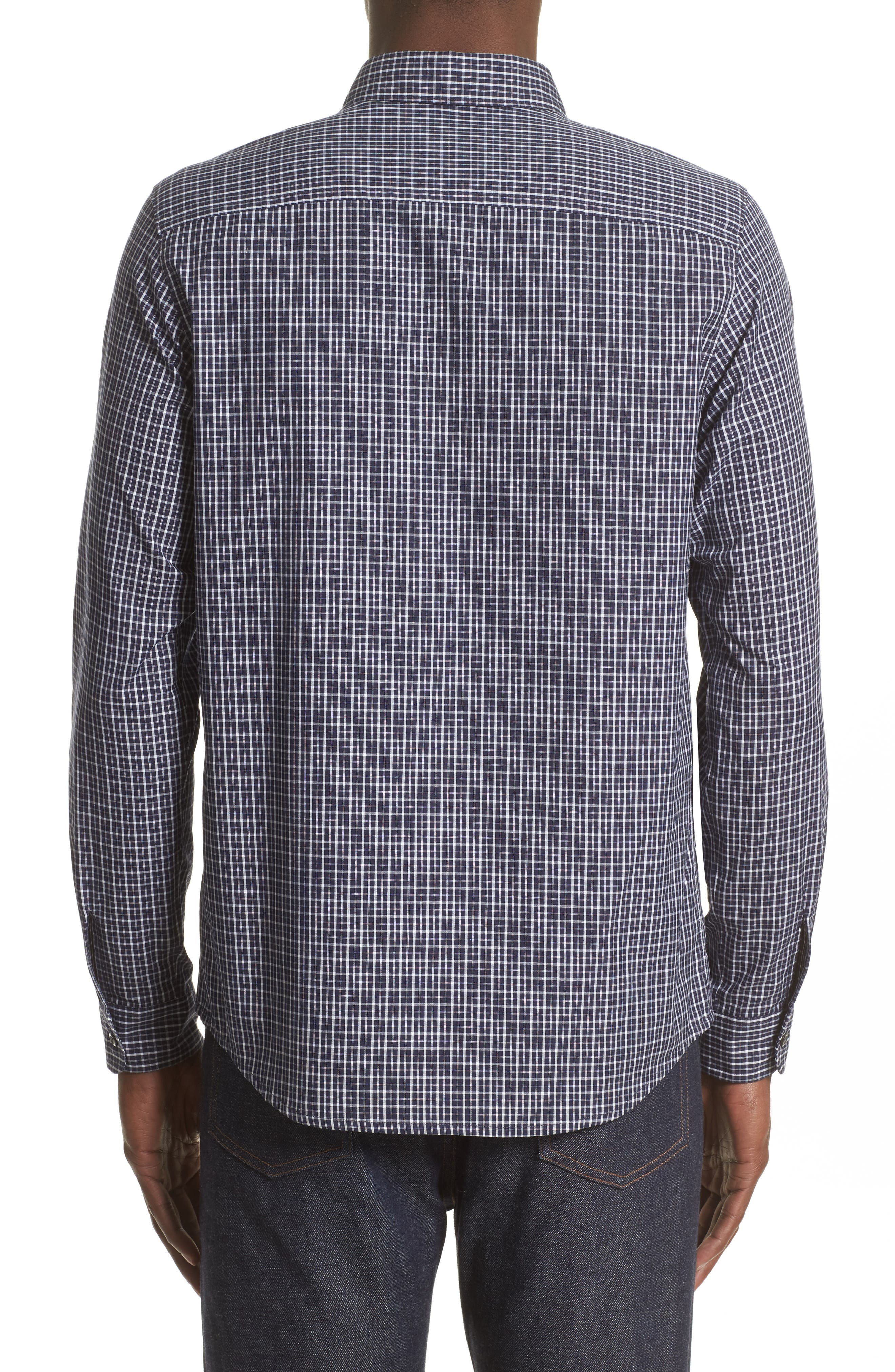 Alternate Image 2  - A.P.C. Chemise Trek Woven Check Sport Shirt