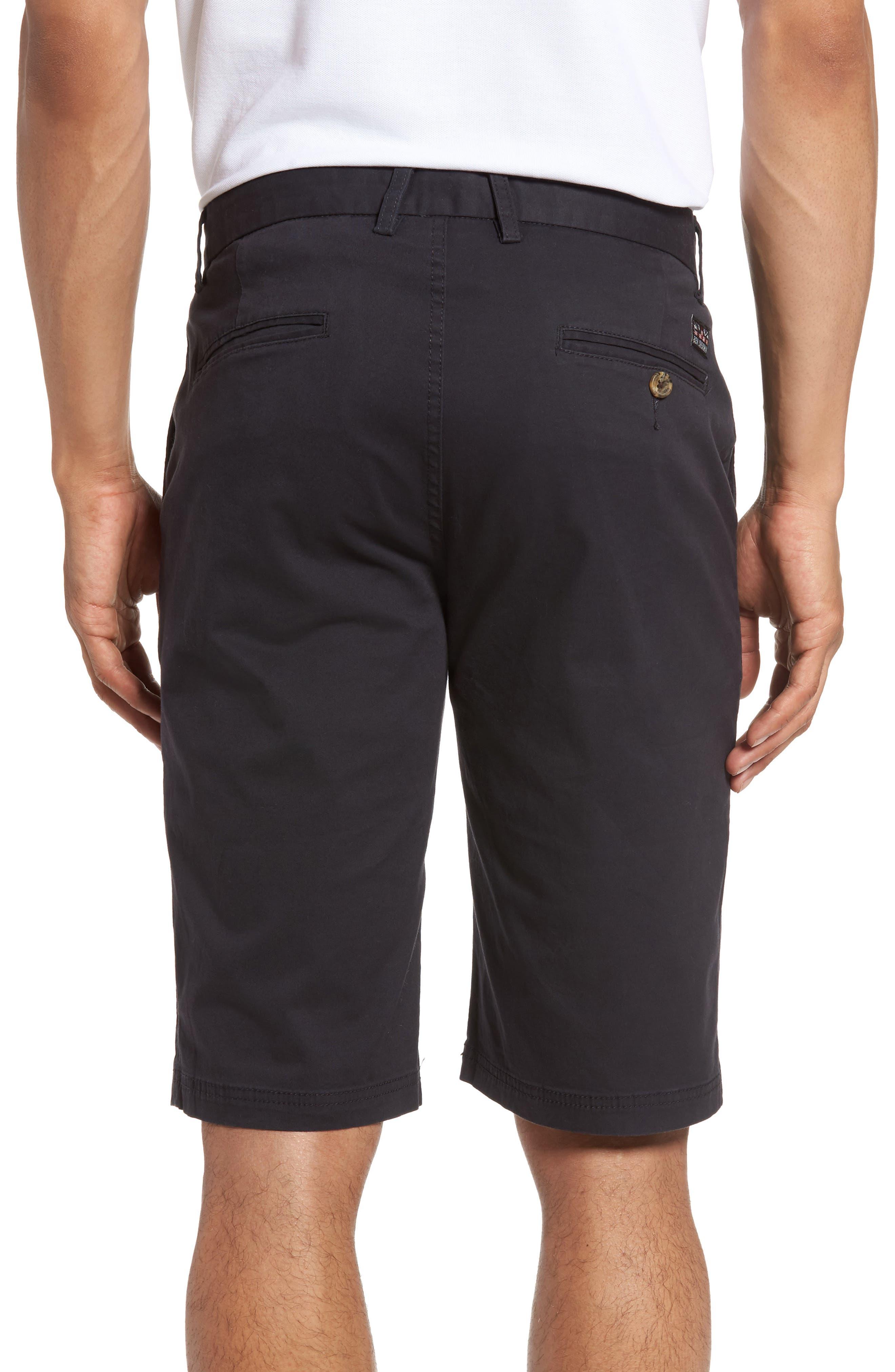 Slim Stretch Chino Shorts,                             Alternate thumbnail 2, color,                             Dark Navy