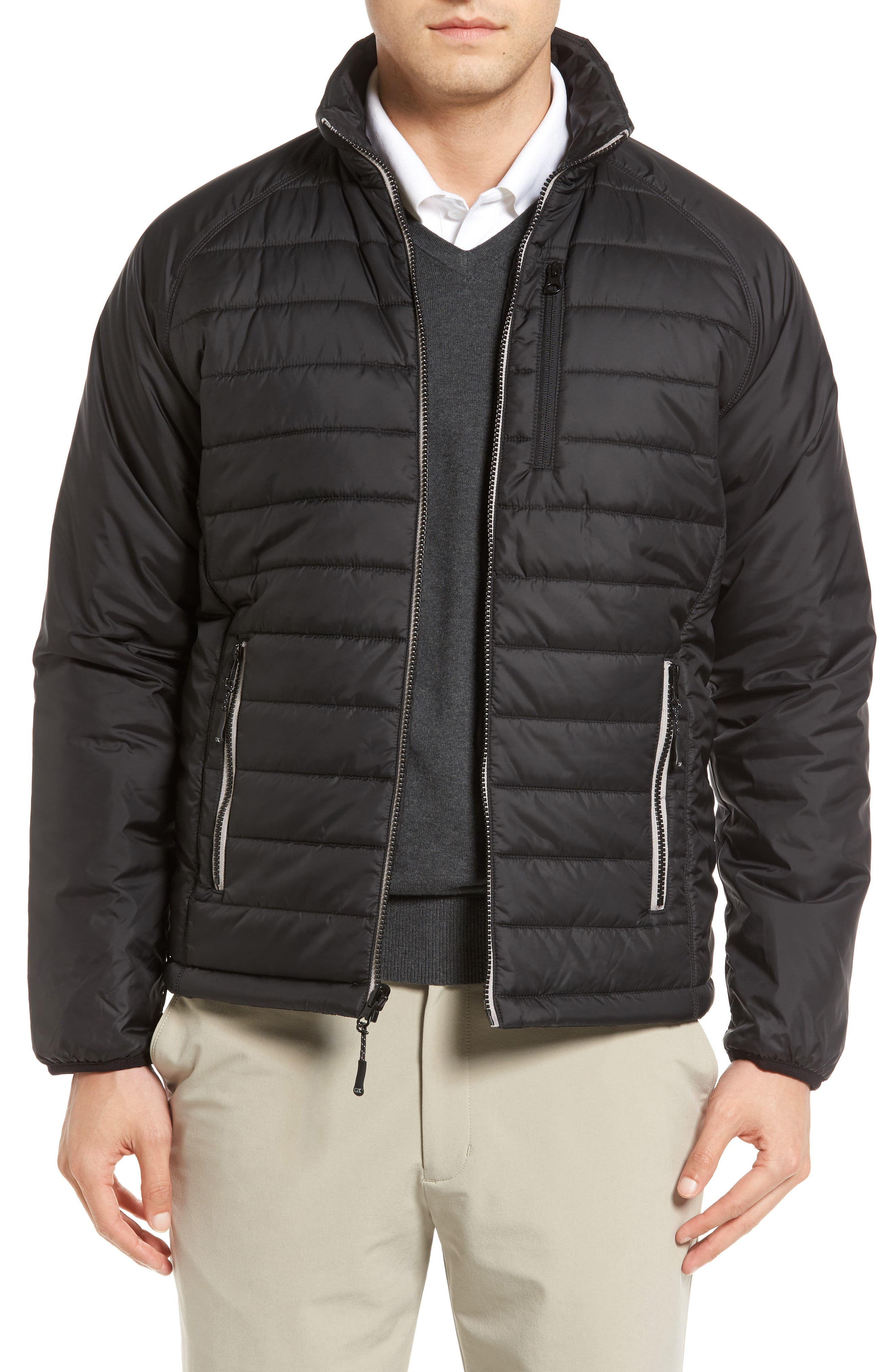 Barlow Pass Quilted Jacket,                         Main,                         color, Black