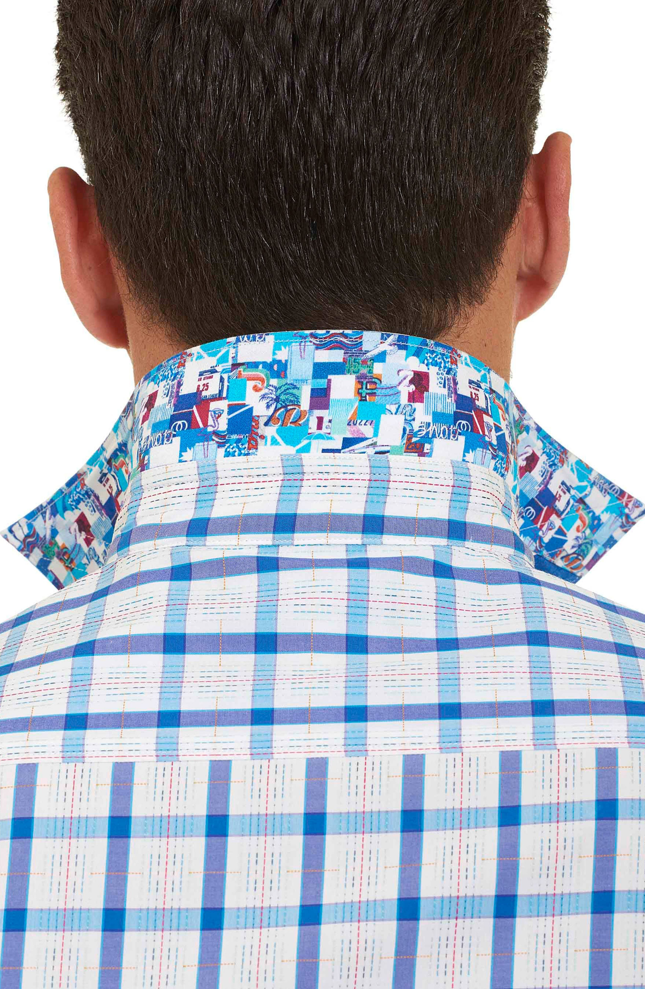 Alternate Image 6  - Robert Graham Classic Fit Check Sport Shirt (Tall)