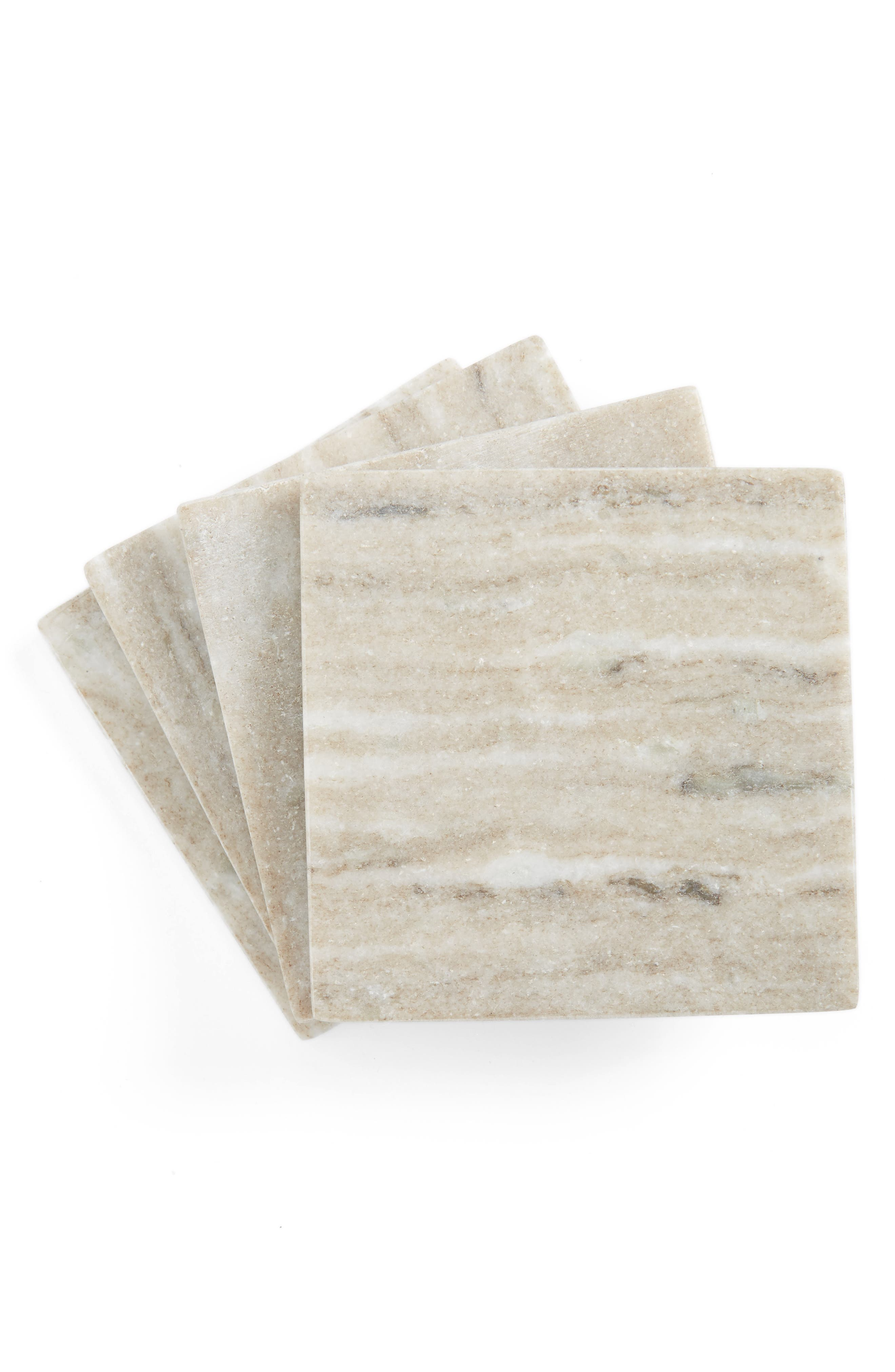 Thirstystone Set of 4 Square Marble Coasters