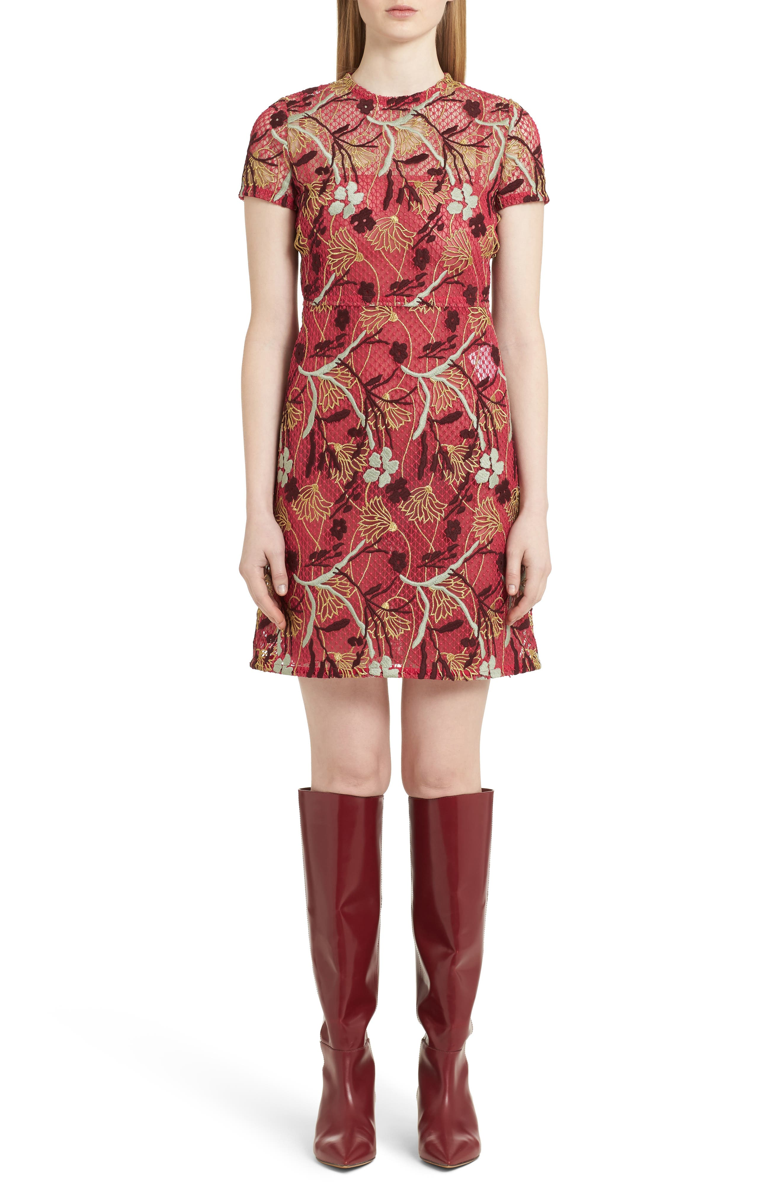 Valentino Lotus Guipure Lace Dress