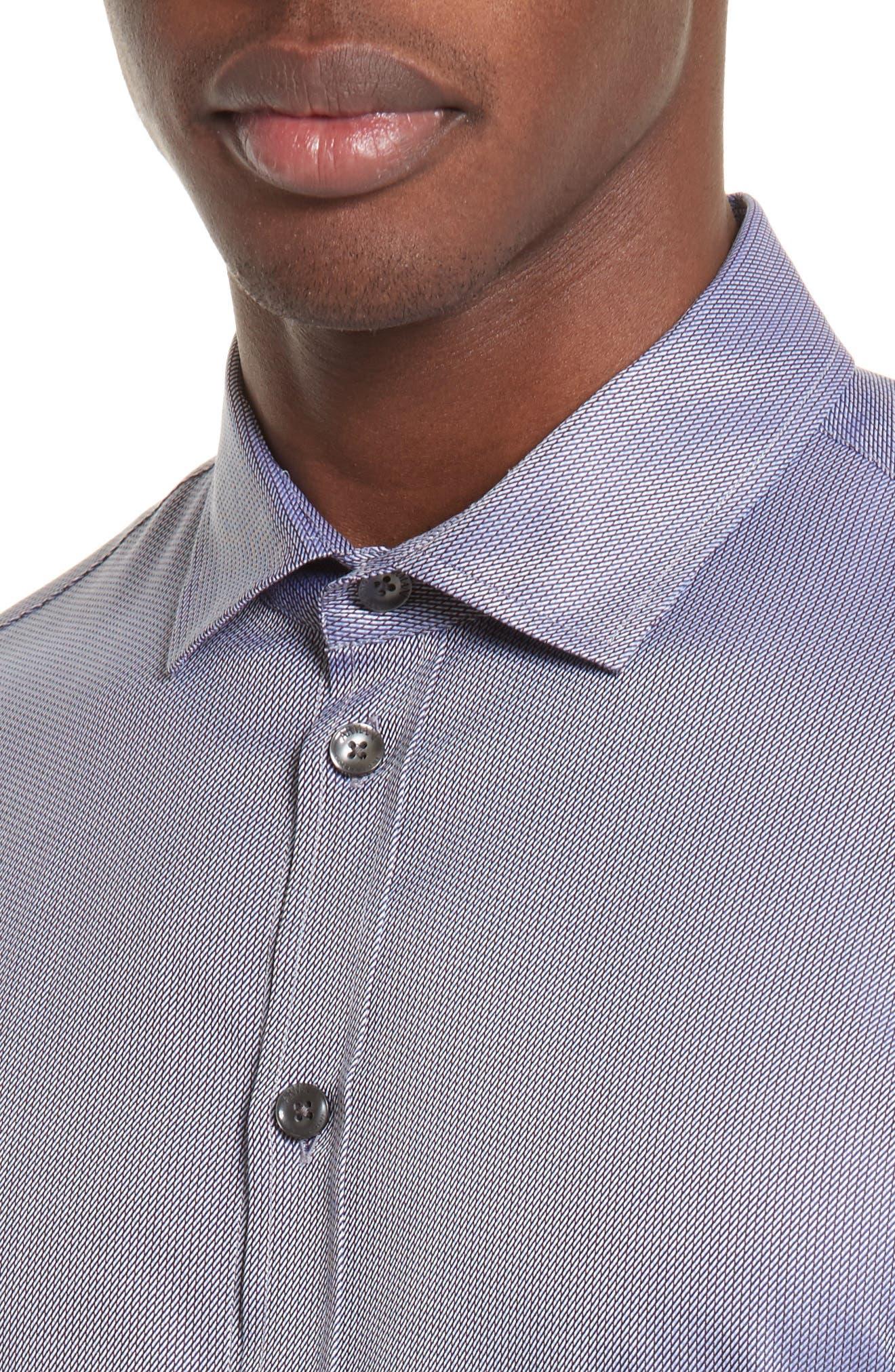 Regular Fit Print Sport Shirt,                             Alternate thumbnail 4, color,                             Fancy Blue Tone