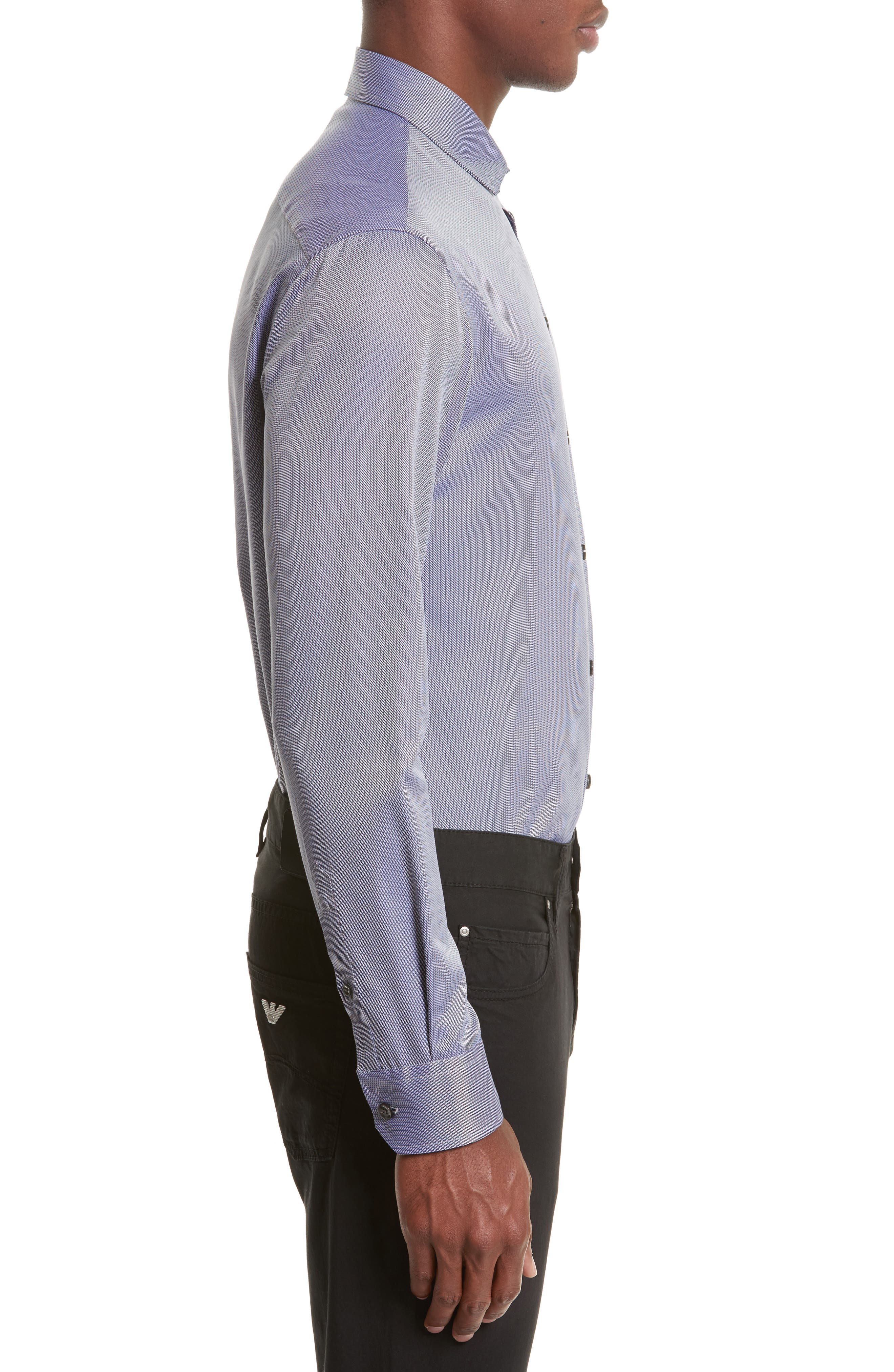 Regular Fit Print Sport Shirt,                             Alternate thumbnail 3, color,                             Fancy Blue Tone