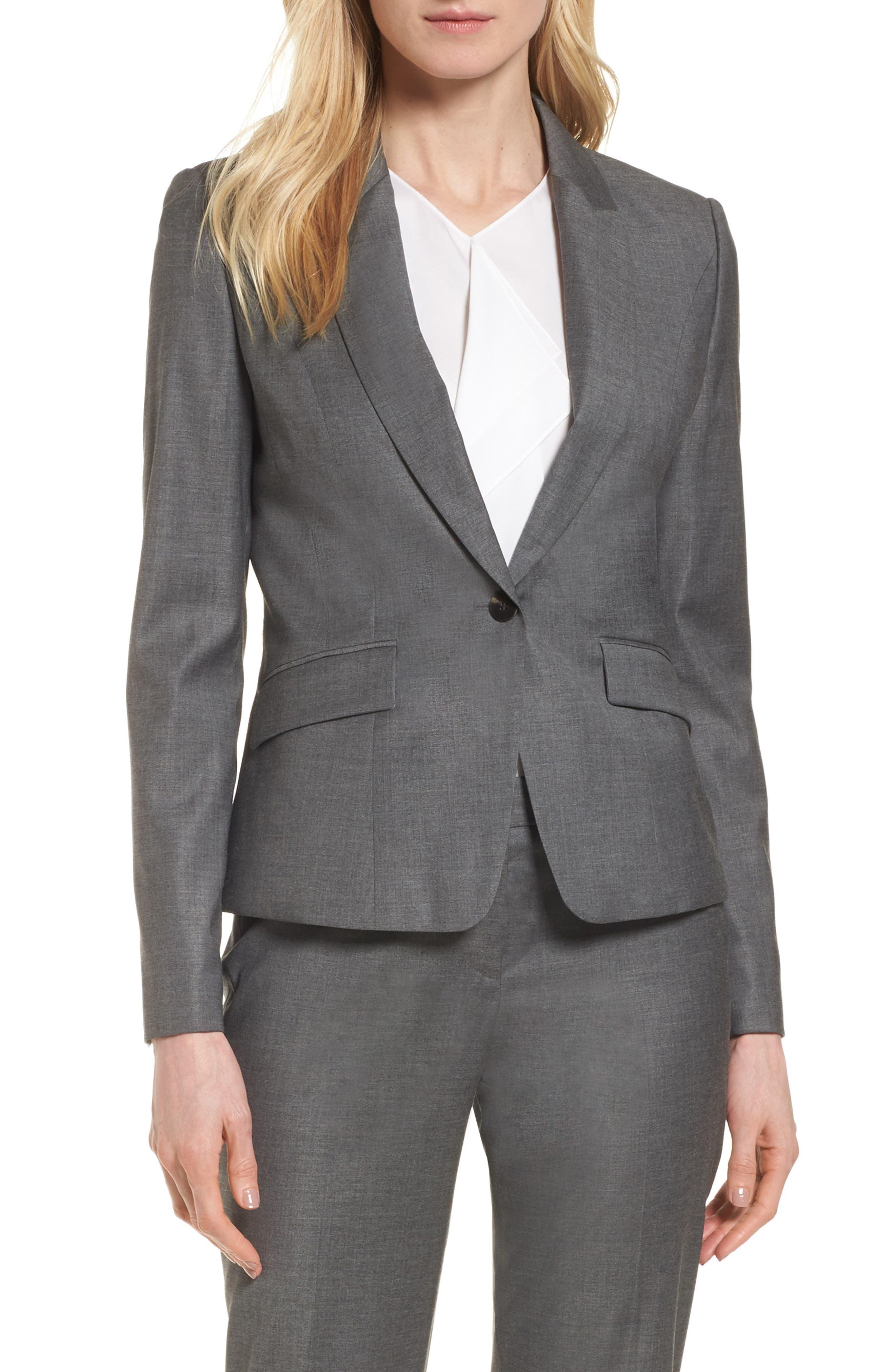 BOSS Janore Wool Blend Suit Jacket