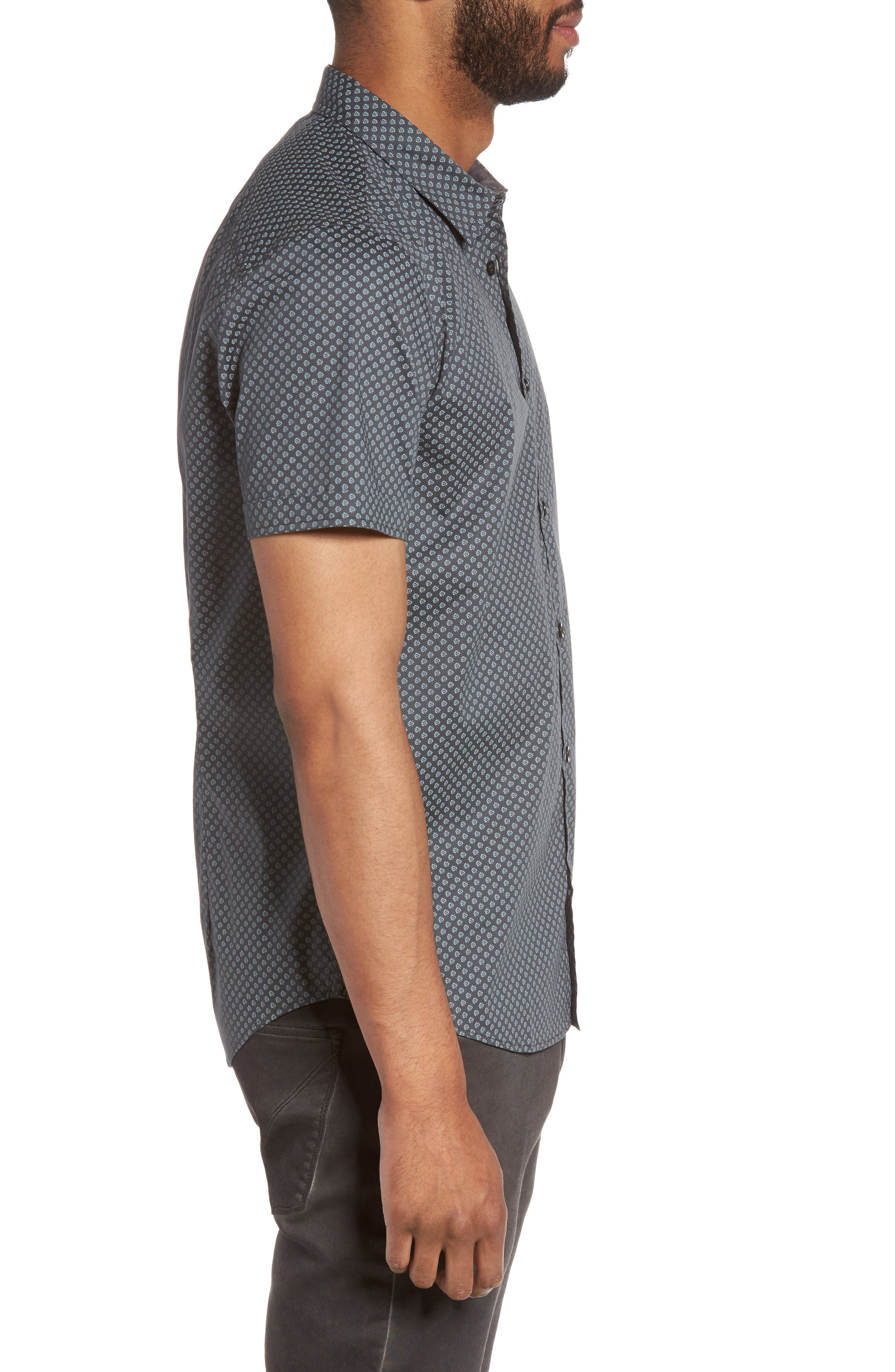 Alternate Image 3  - John Varvatos Star USA Trim Fit Print Sport Shirt