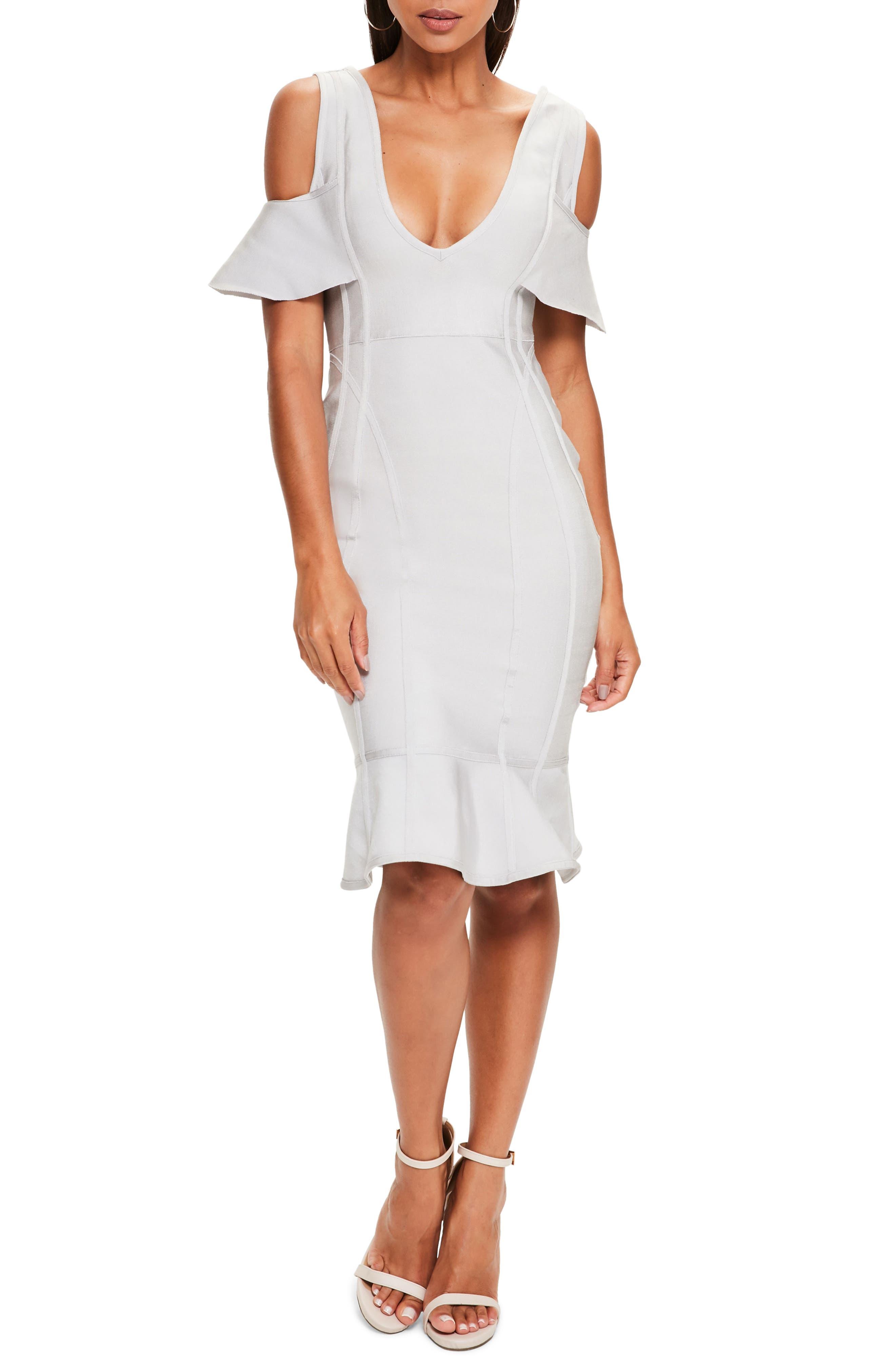 Missguided Cold Shoulder Bandage Dress