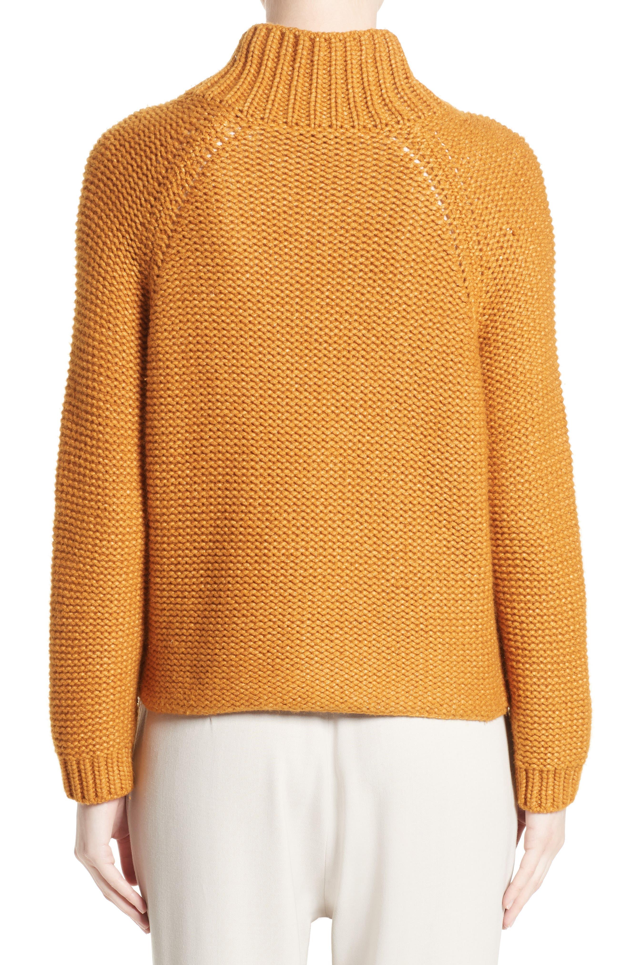 Knit Wool Blend Cardigan,                             Alternate thumbnail 2, color,                             Amber