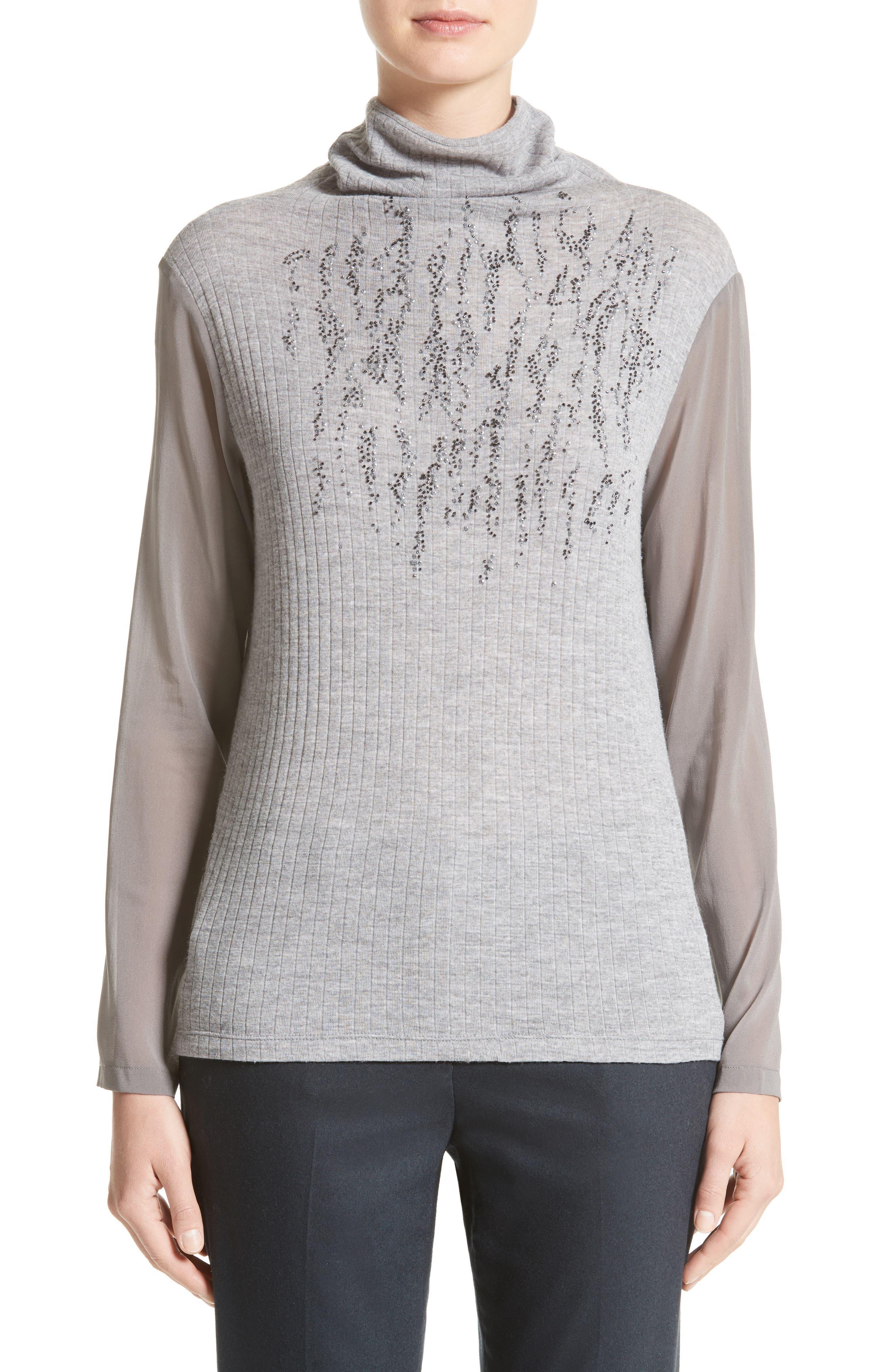 Fabiana Filippi Sequin Wool Turtleneck