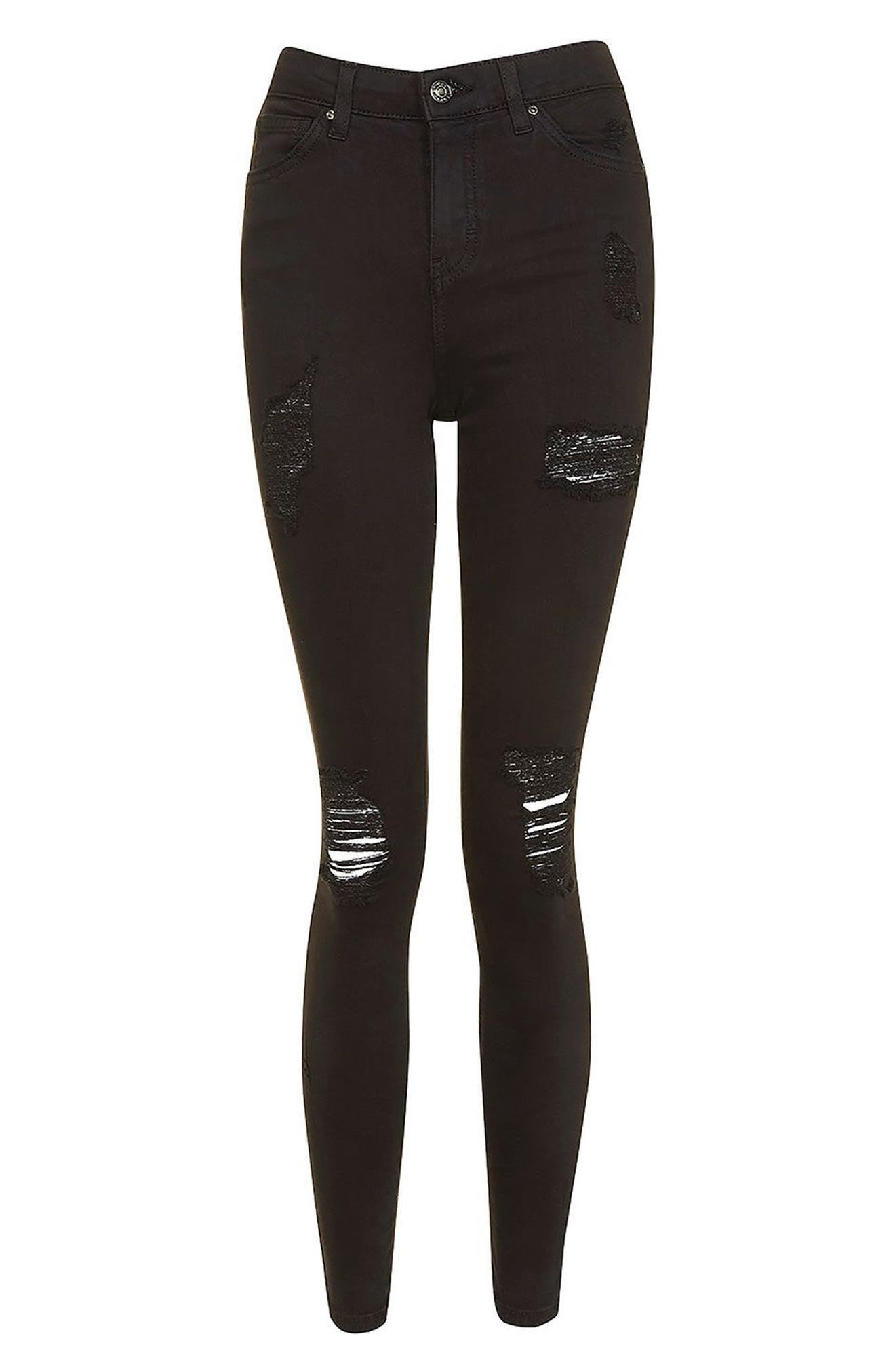 Alternate Image 3  - Topshop Ripped High Waist Ankle Skinny Jeans