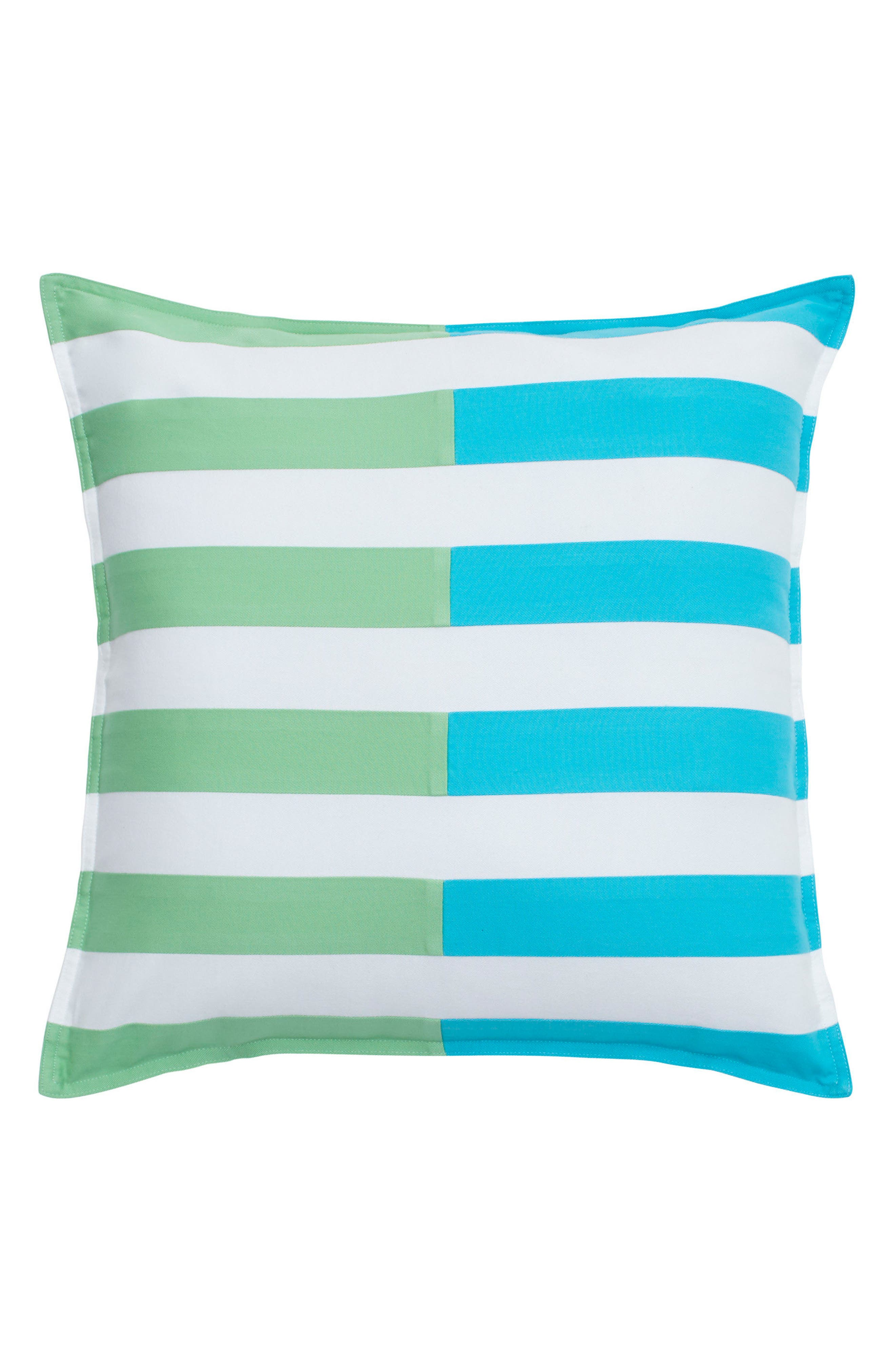 Skipjack Chino Pieced Accent Pillow,                             Main thumbnail 1, color,                             Island Blue/ Kiwi/ White