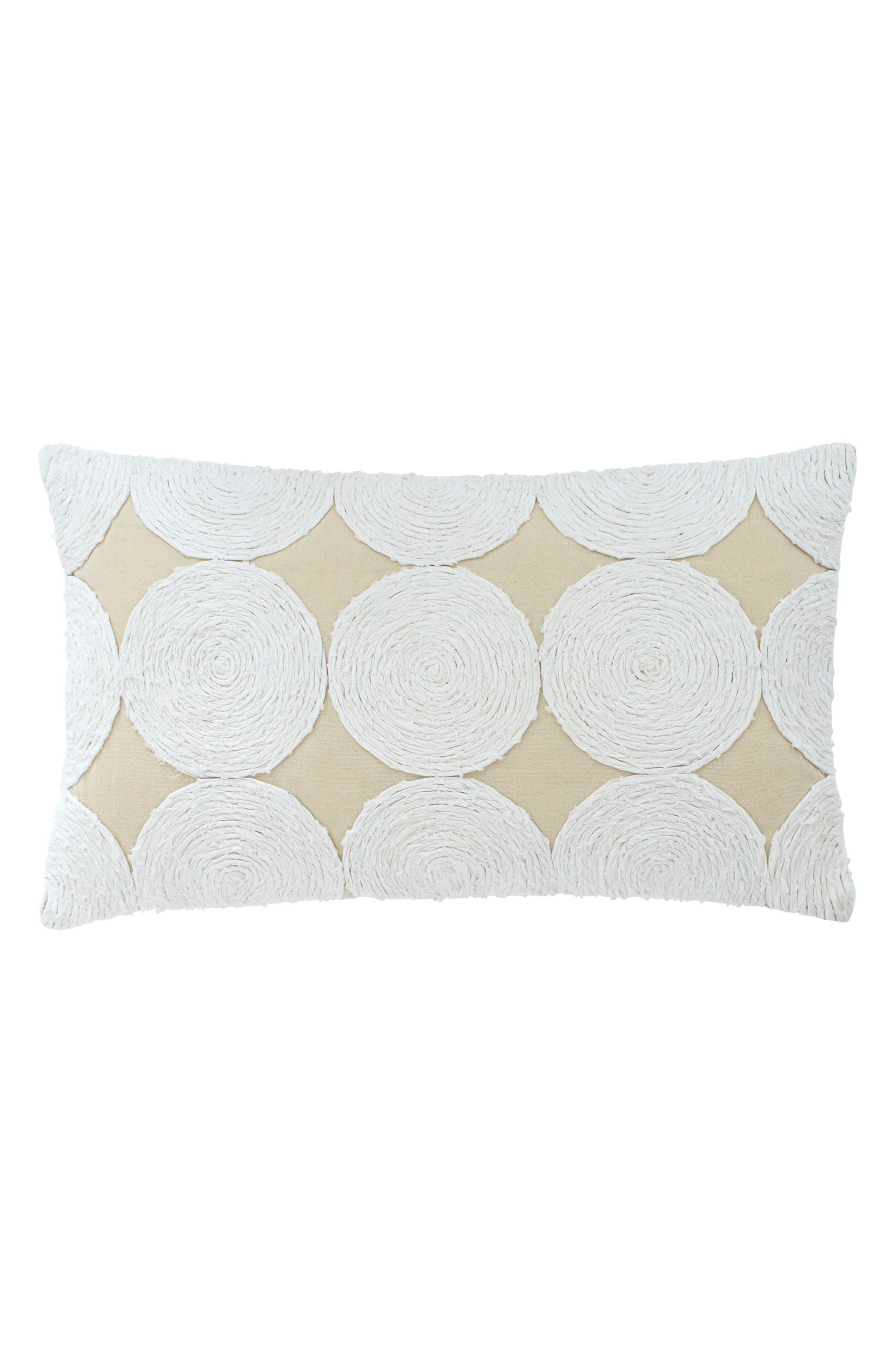 Southern Hospitality Appliqué Accent Pillow,                         Main,                         color, Khaki