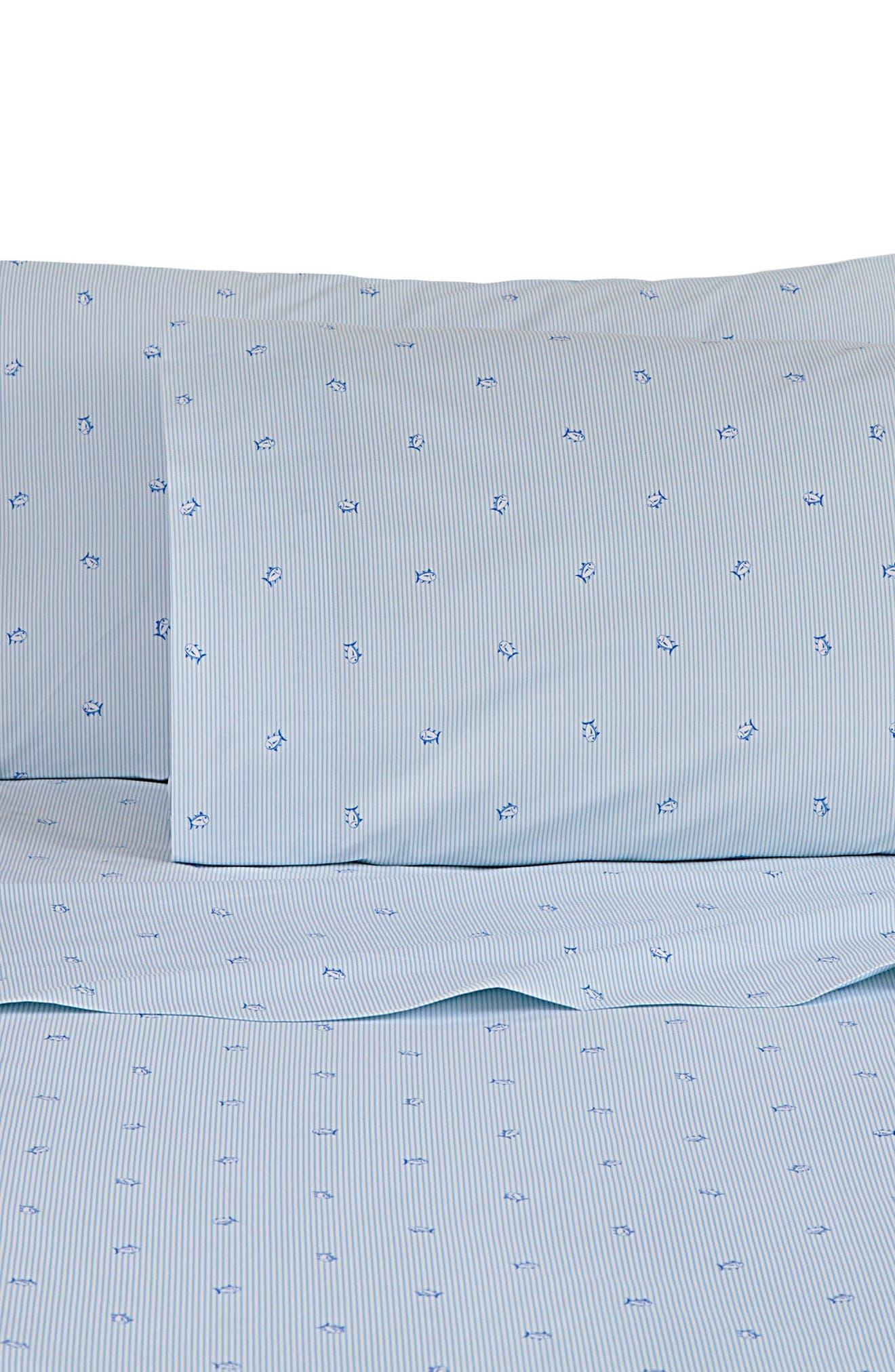 Skipjack Stripe Sheet Set,                             Main thumbnail 1, color,                             Blue