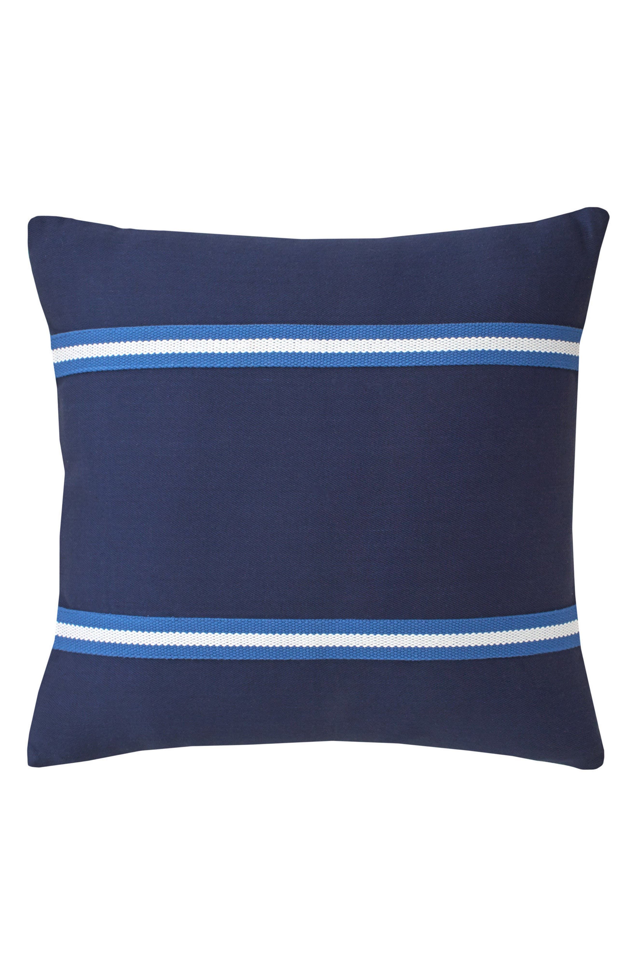 Dock Street Stripe Tape Accent Pillow,                         Main,                         color, Navy