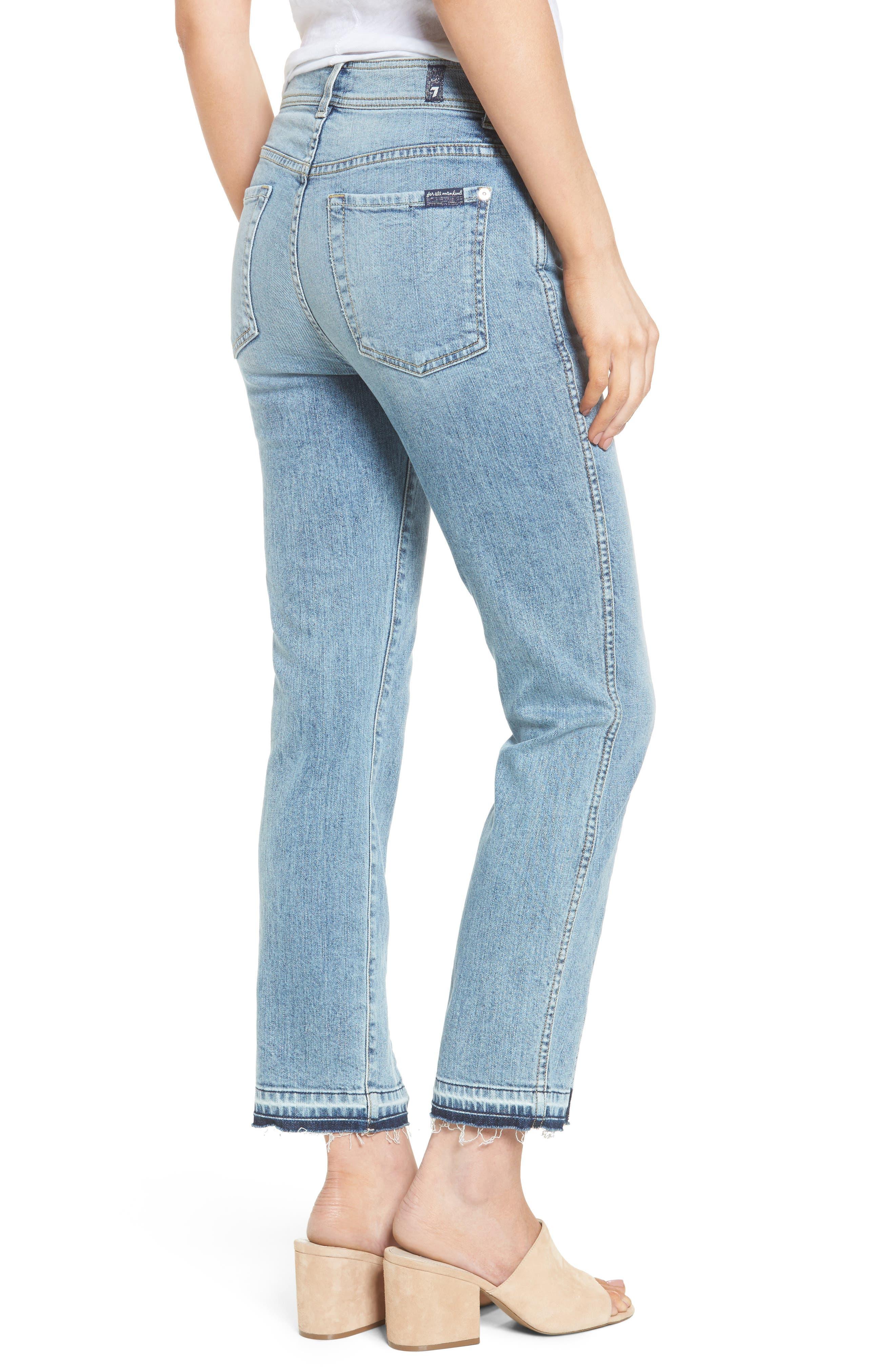 Alternate Image 3  - 7 For All Mankind® Release Hem Ankle Skinny Jeans (Rockaway Beach)
