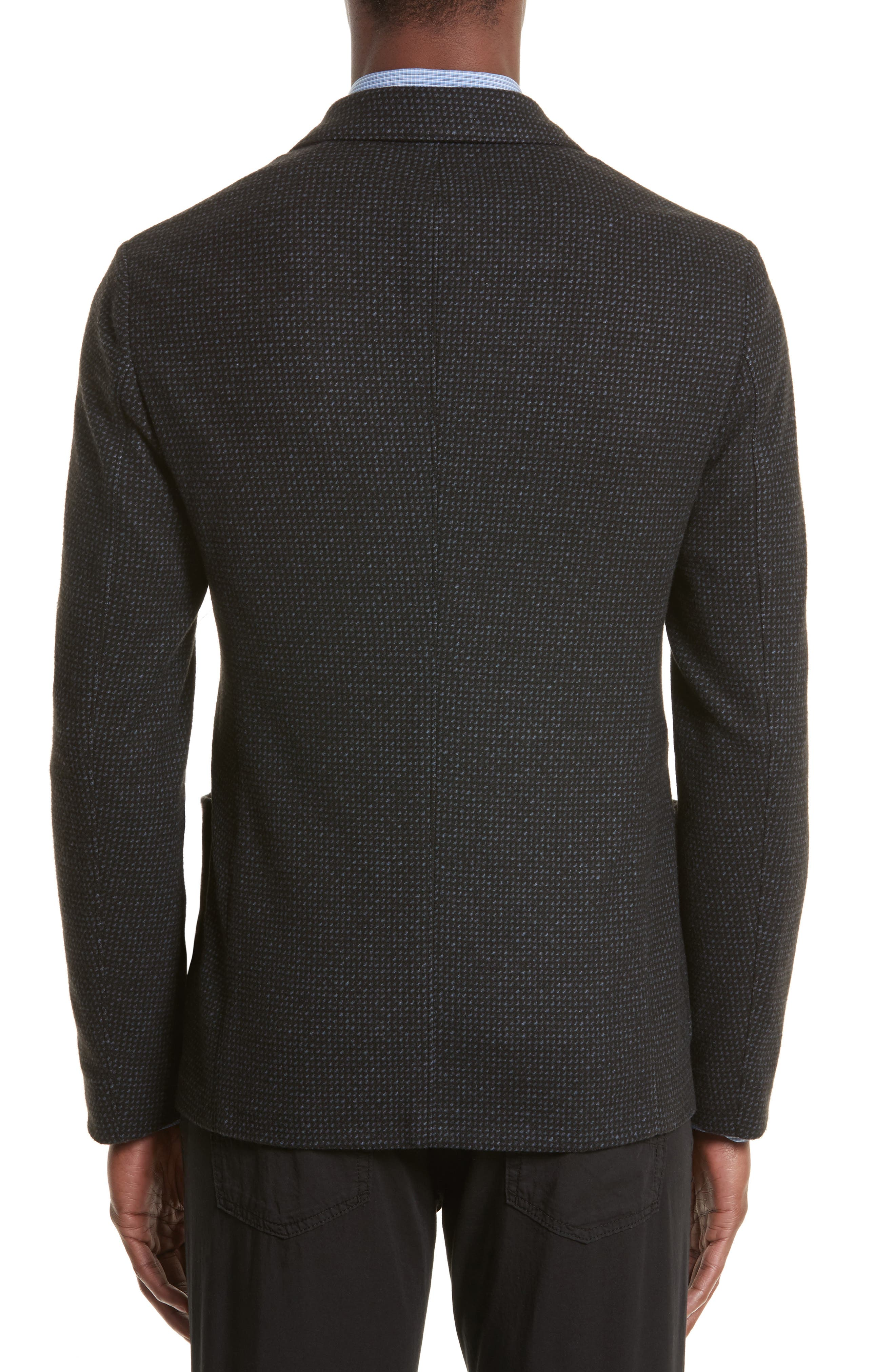 Alternate Image 2  - Emporio Armani Techno Jersey Jacket
