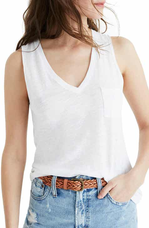 f014b2bfcc40f5 Madewell Whisper Cotton V-Neck Tank