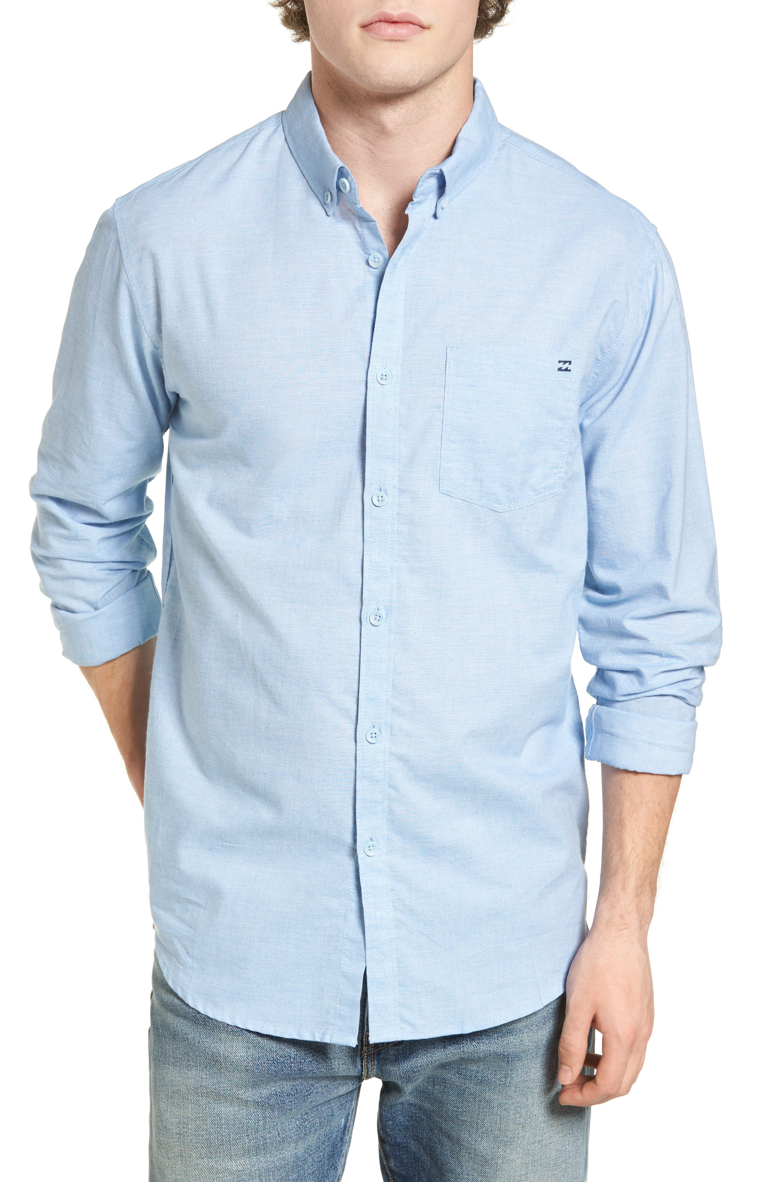 All Day Chambray Shirt,                         Main,                         color, Light Blue