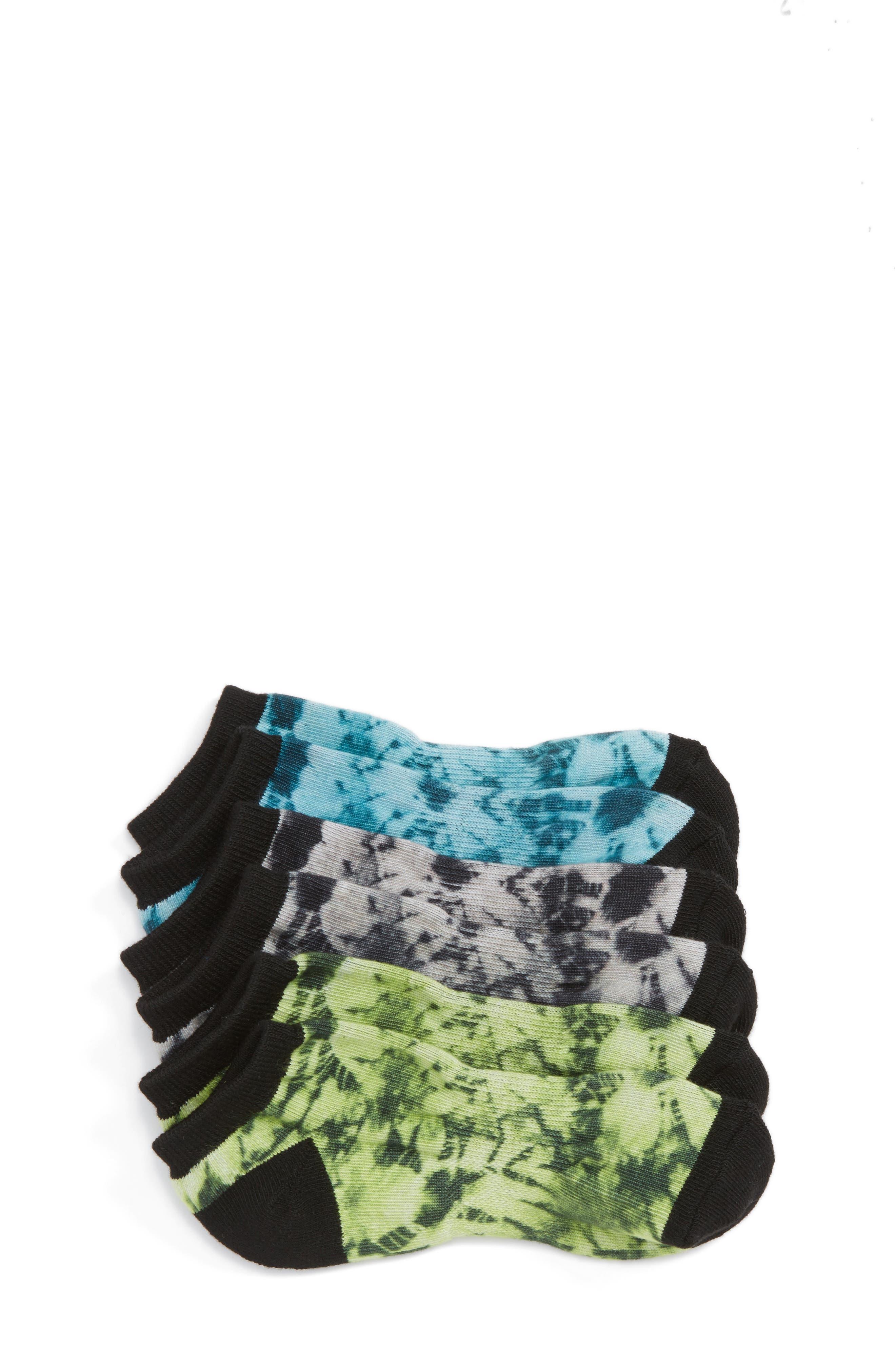 Rotary 3-Pack Lowcut Socks,                             Main thumbnail 1, color,                             Black Raven