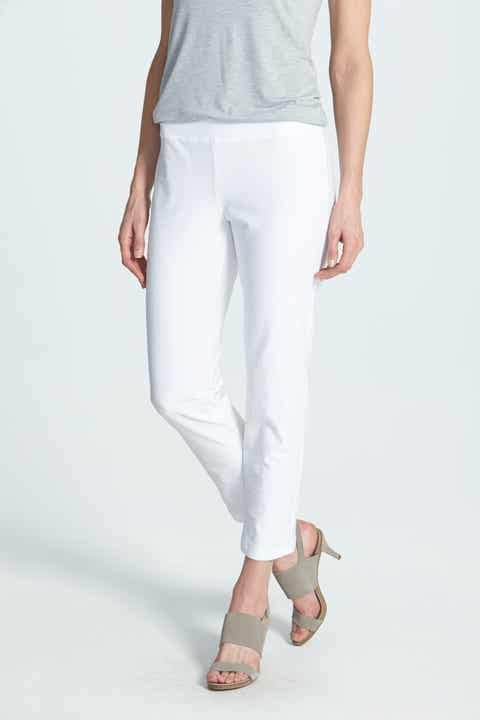 679f91786ae0e5 Eileen Fisher Stretch Crepe Slim Ankle Pants (Regular & Petite)