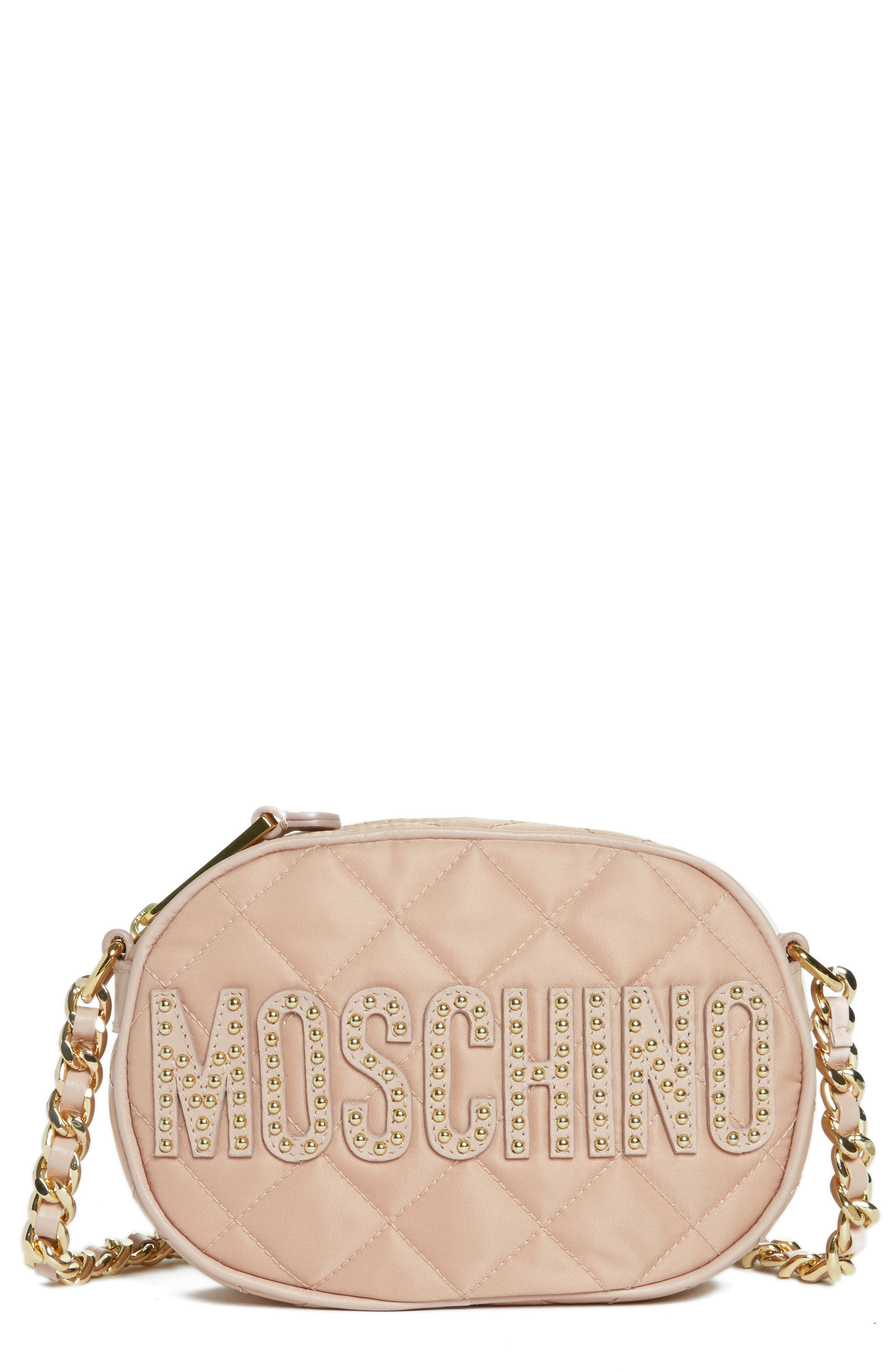 Main Image - Moschino Small Quilted Camera Bag