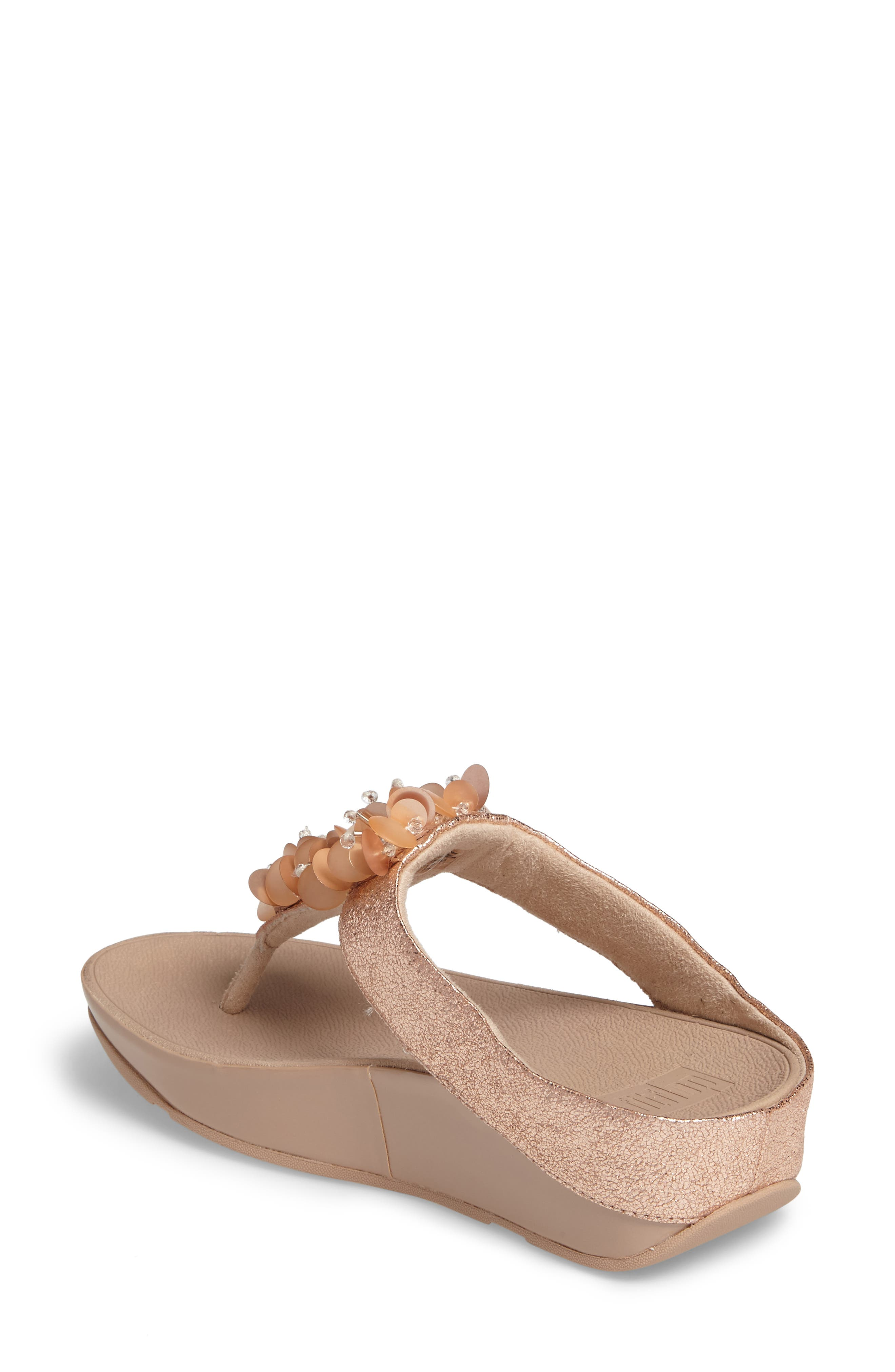 Boogaloo Sandal,                             Alternate thumbnail 2, color,                             Rose Gold Leather