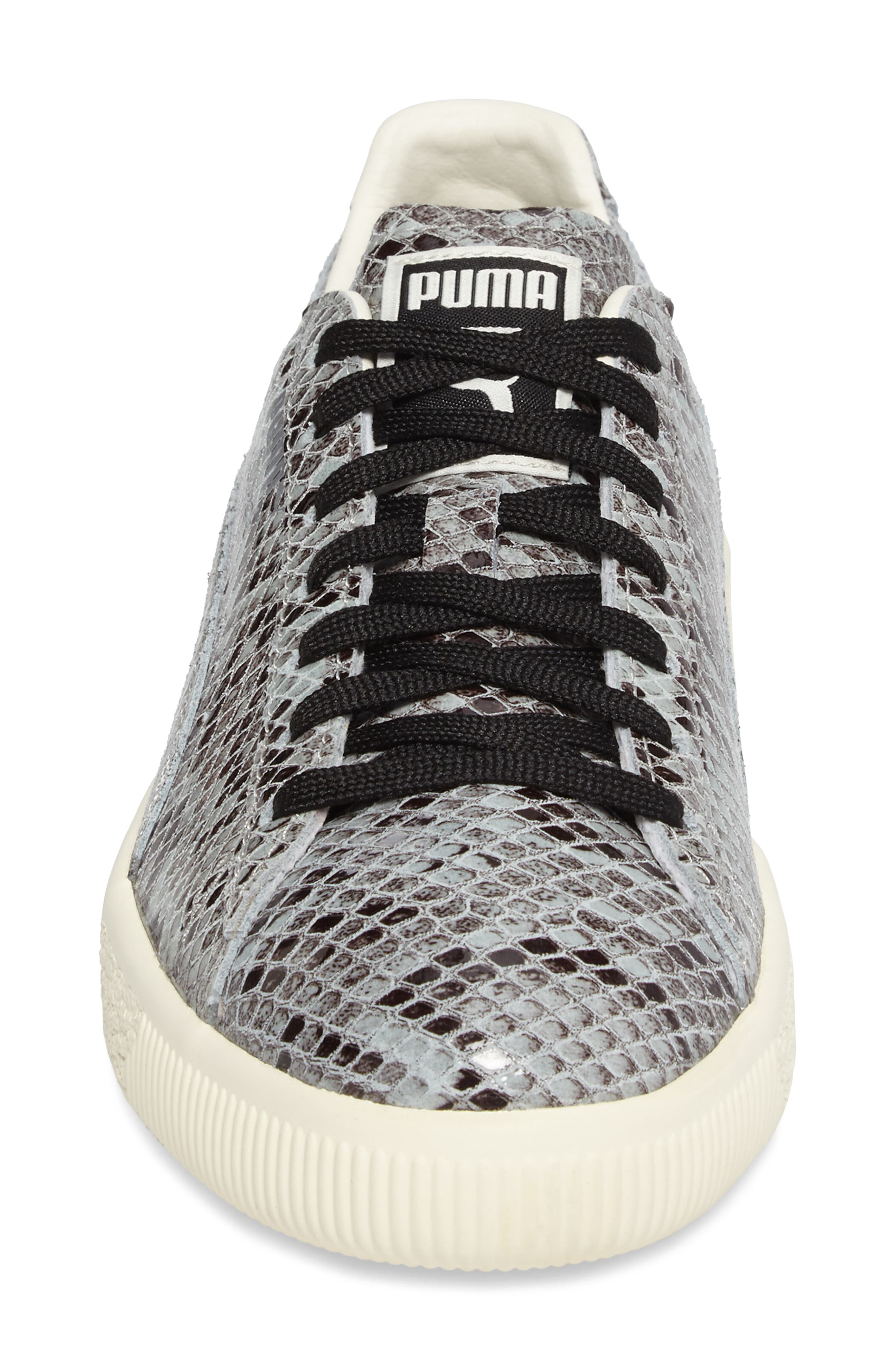 Clyde Sneaker,                             Alternate thumbnail 4, color,                             Puma Silver
