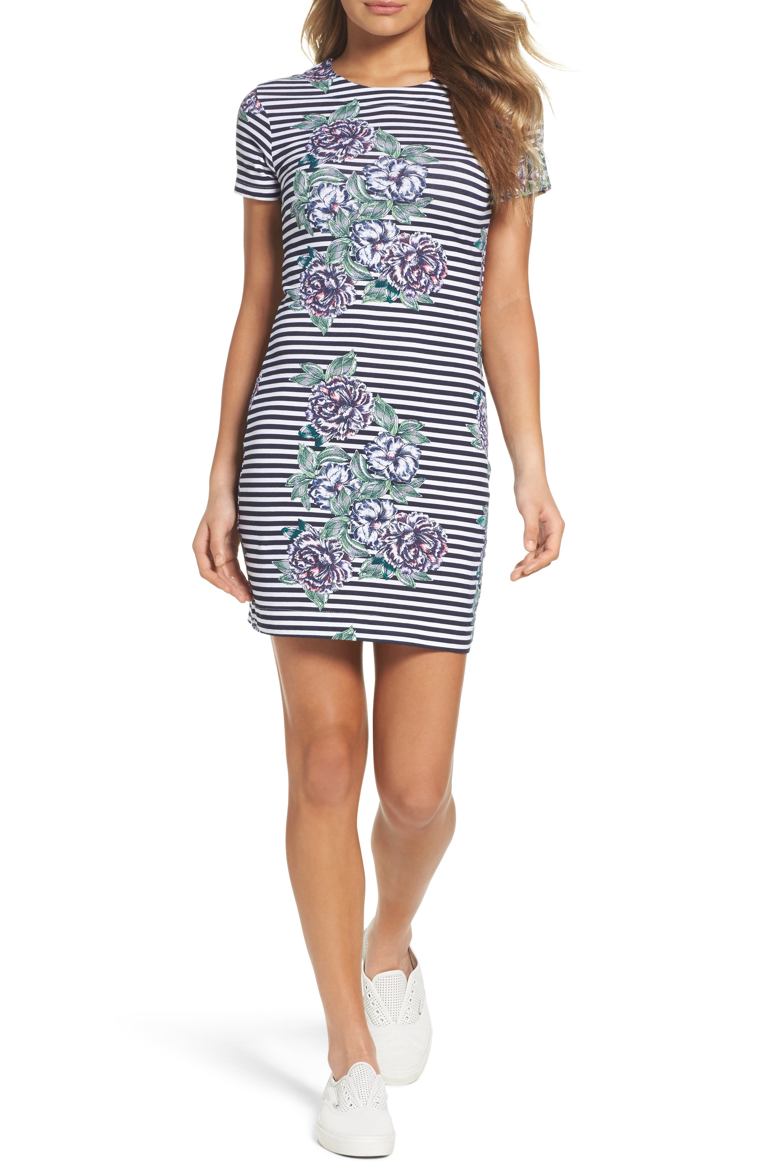 Bonita Trail T-Shirt Dress,                         Main,                         color, Nocturnal Multi