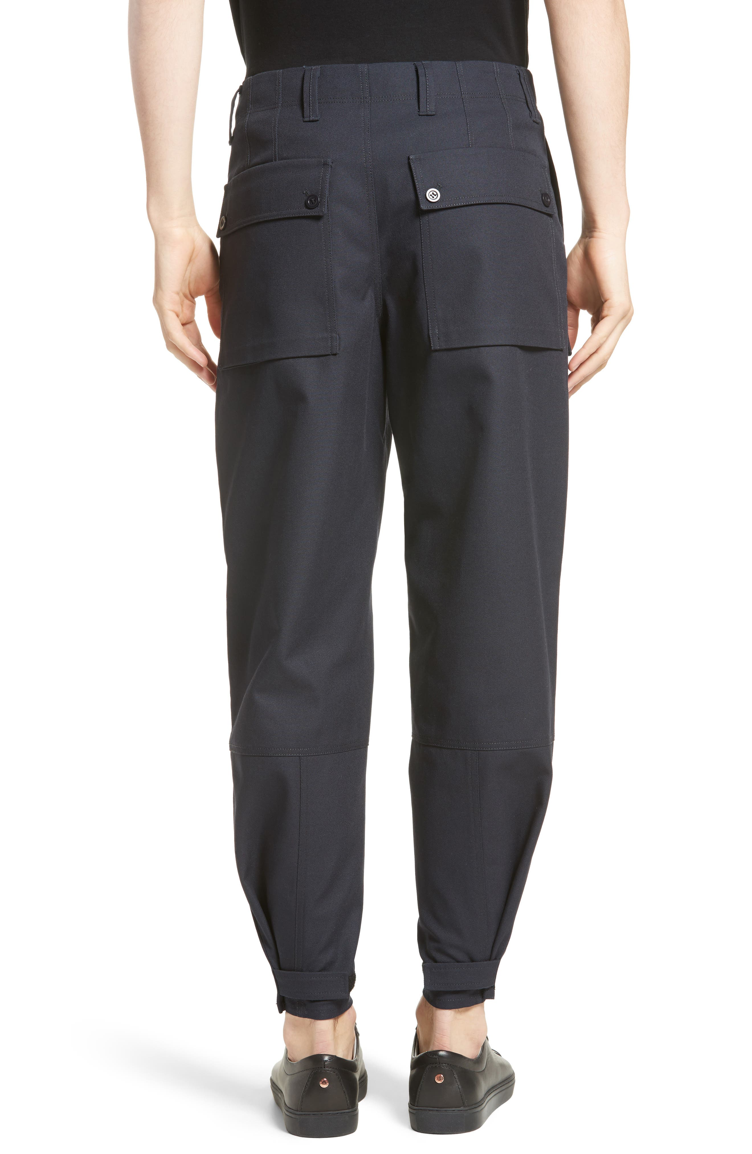 Abbi Twill Cargo Pants,                             Alternate thumbnail 2, color,                             Navy