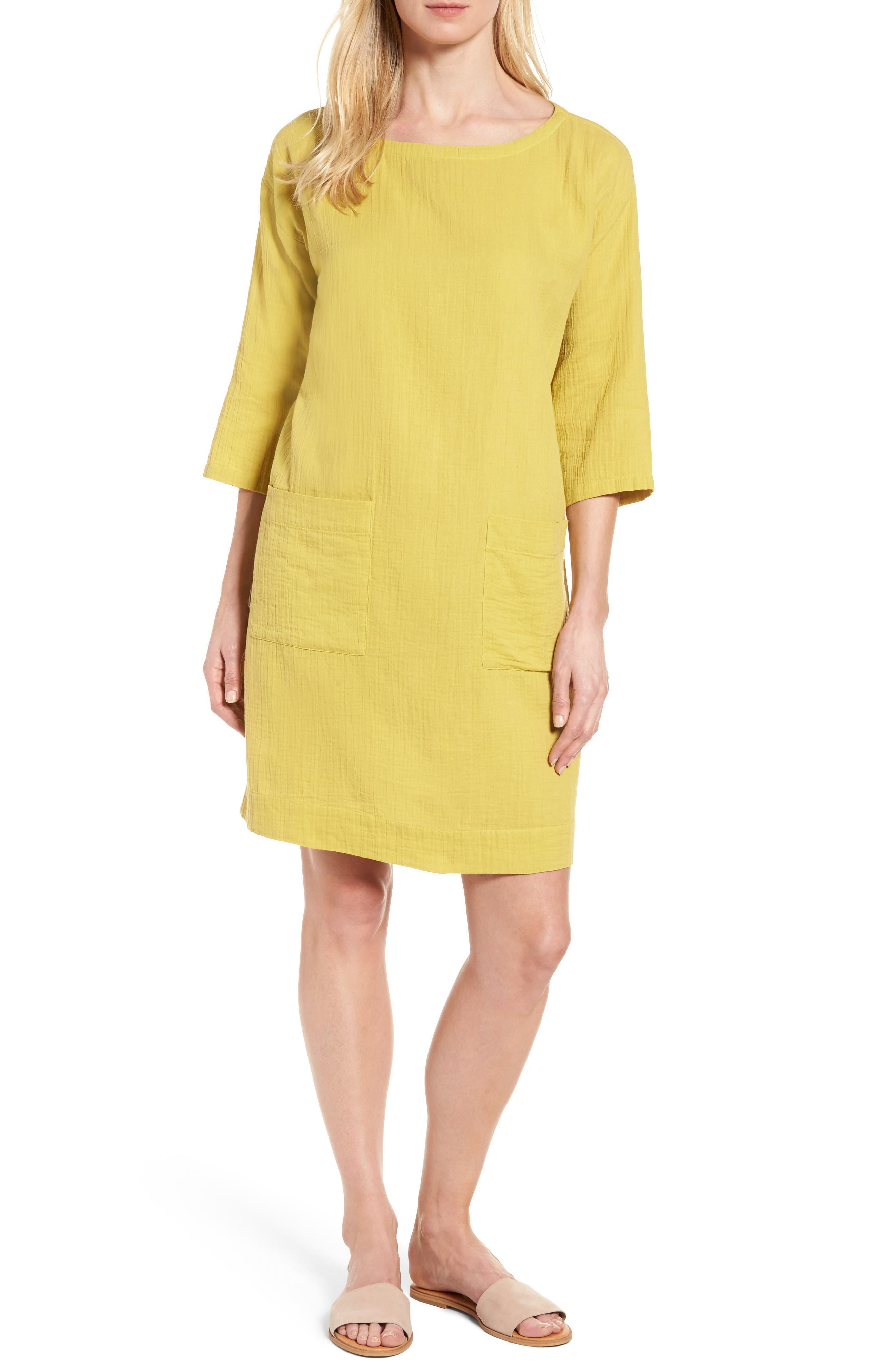 Eileen Fisher Organic Cotton Tunic Dress (Regular & Petite)