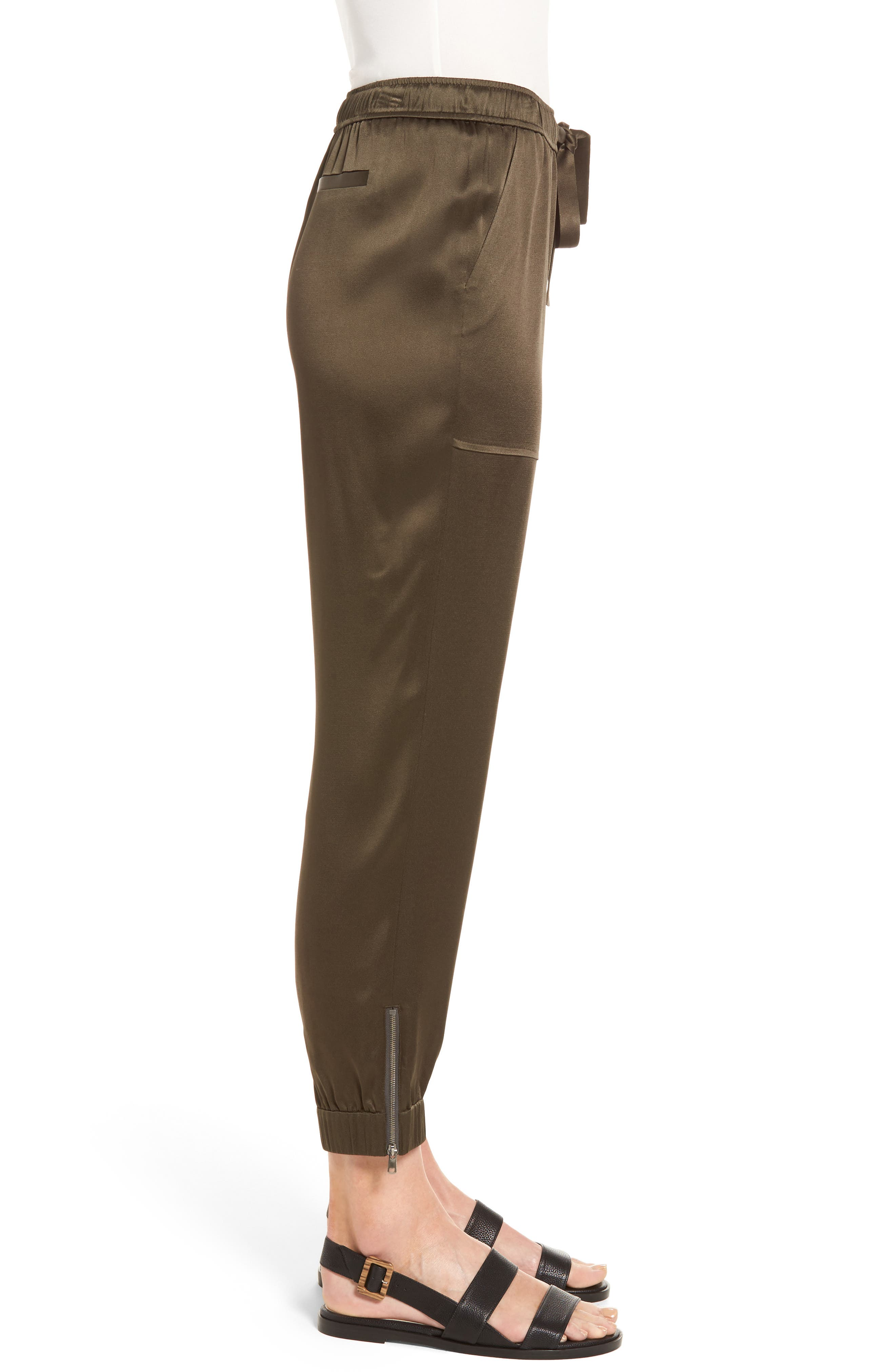 Alternate Image 3  - Nordstrom Signature Satin Jogger Pants