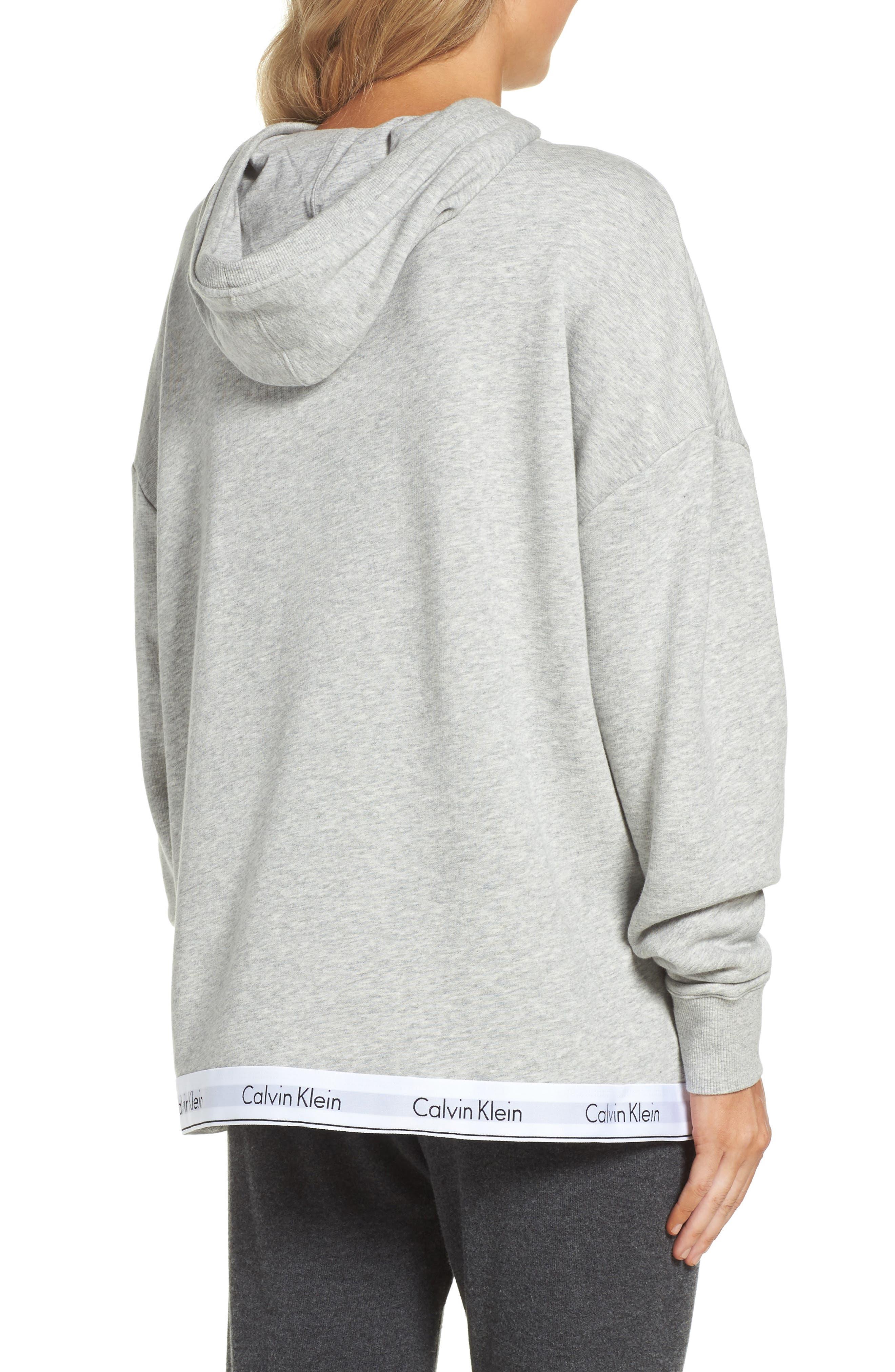 Alternate Image 2  - Calvin Klein Modern Cotton Lounge Hoodie