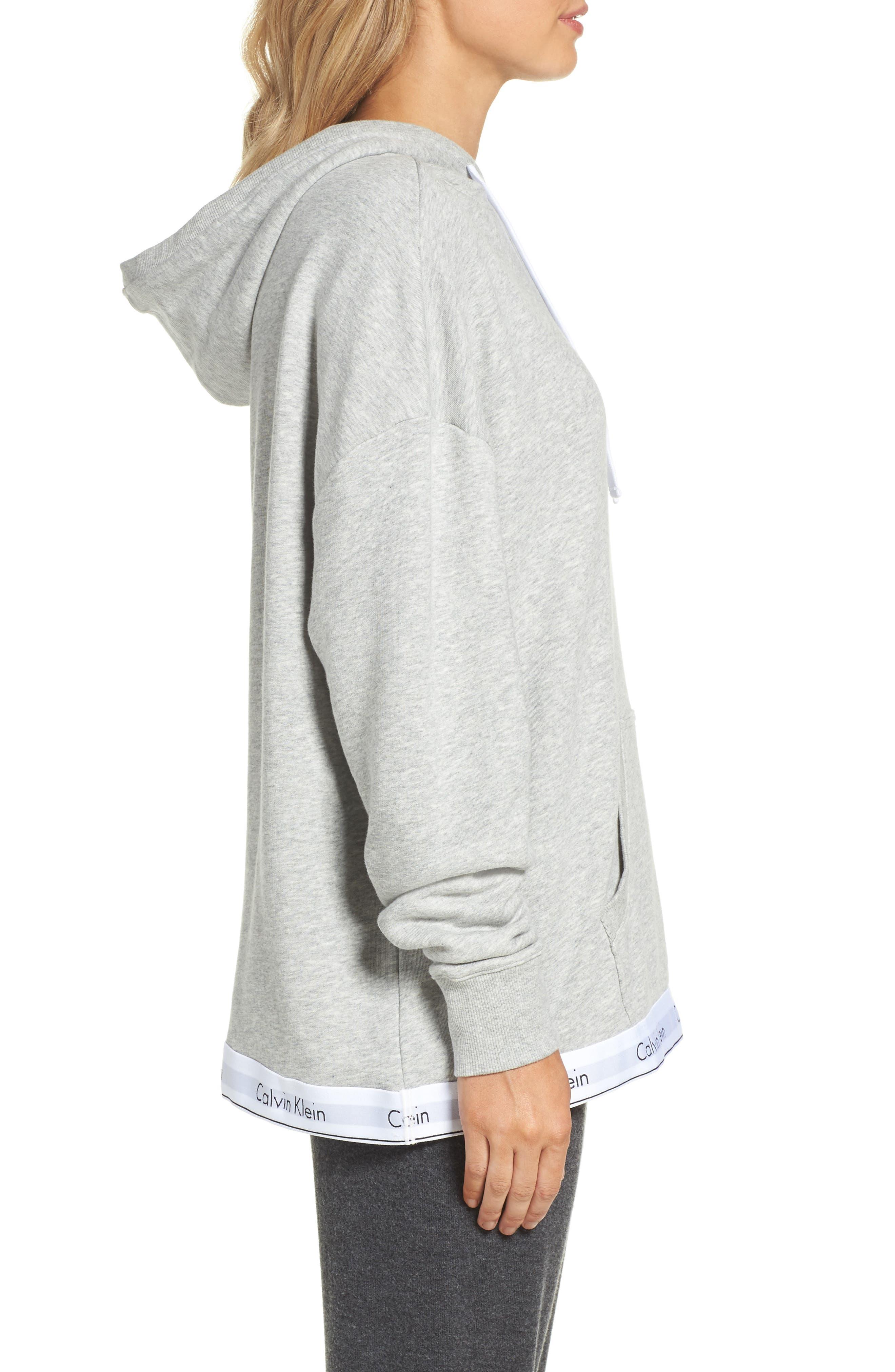 Alternate Image 3  - Calvin Klein Modern Cotton Lounge Hoodie