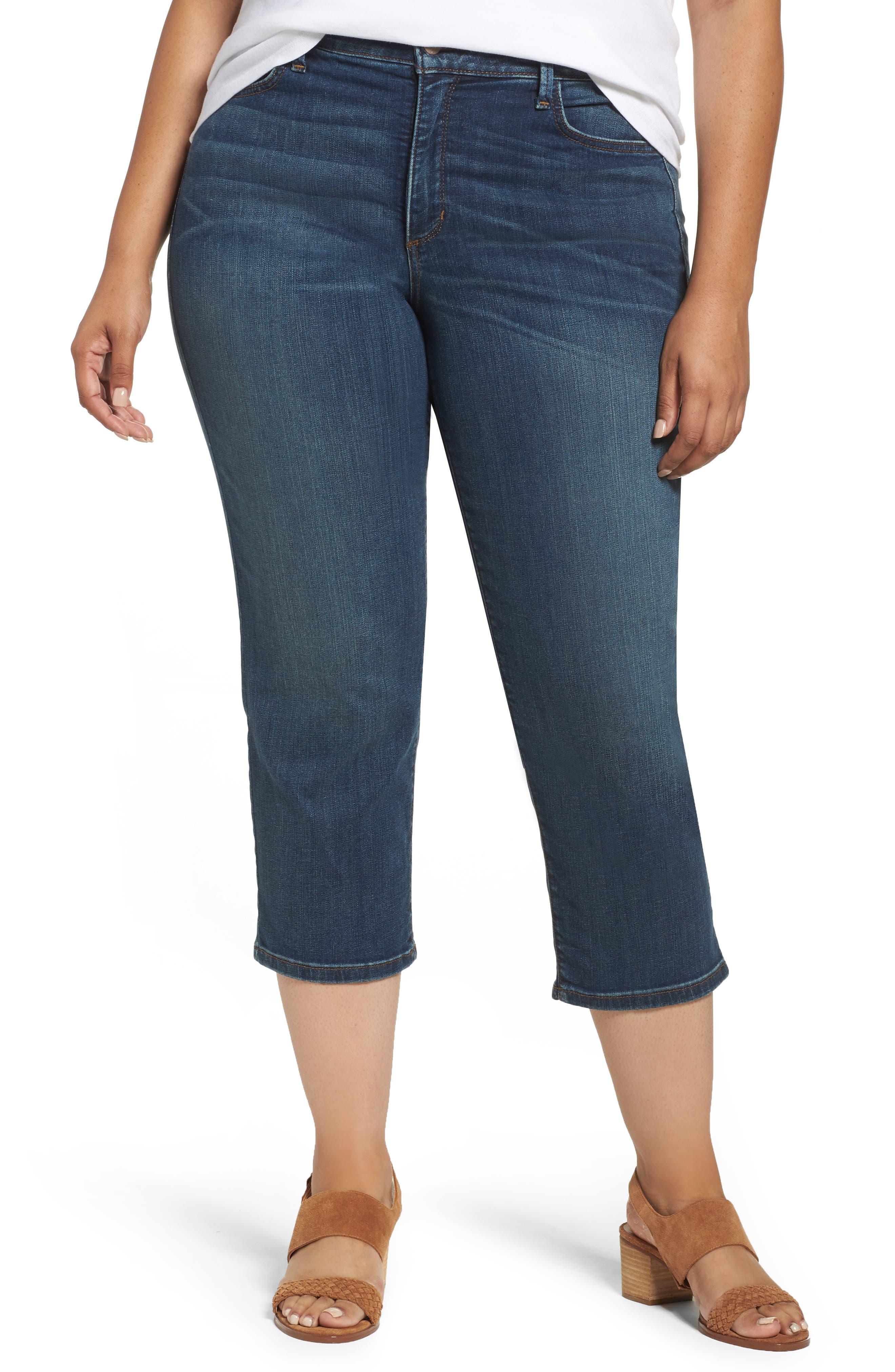 NYDJ Marilyn Stretch Capri Jeans (Oak Hill) (Plus Size)