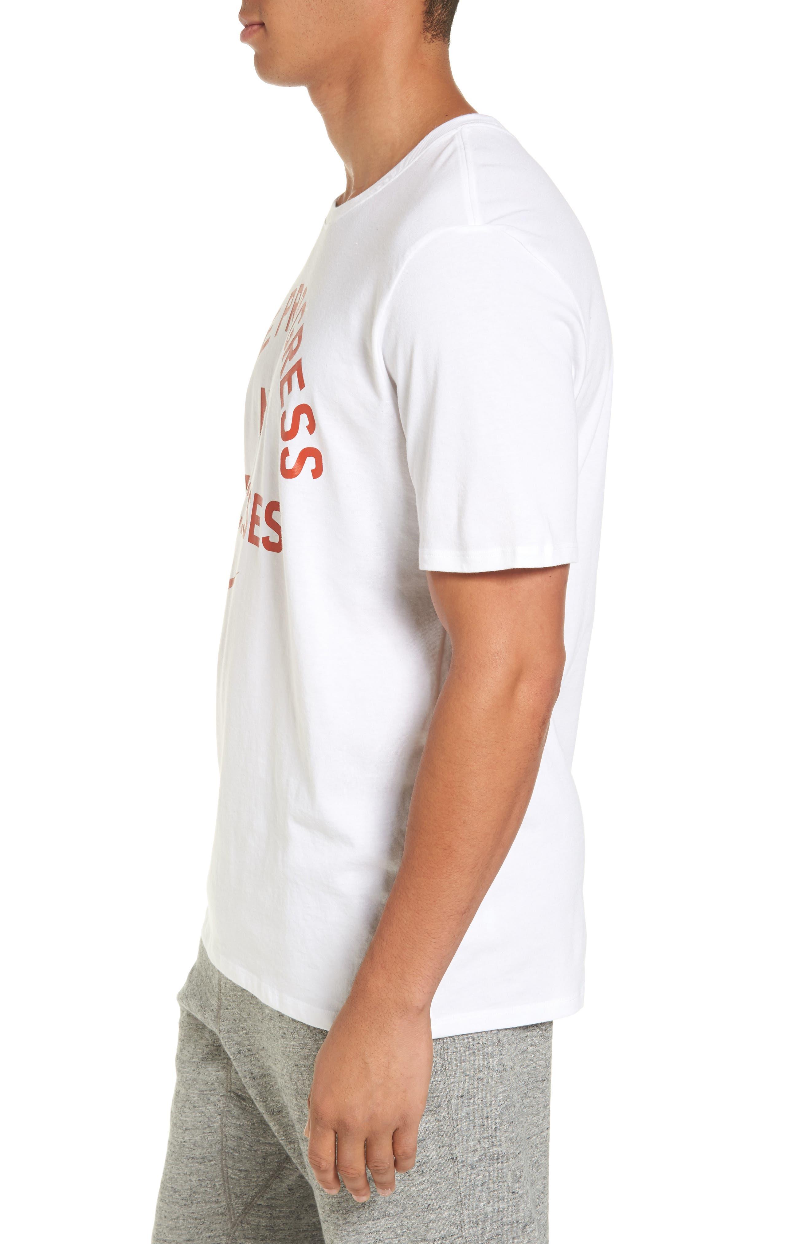 Dry No Excuses Training T-Shirt,                             Alternate thumbnail 3, color,                             White