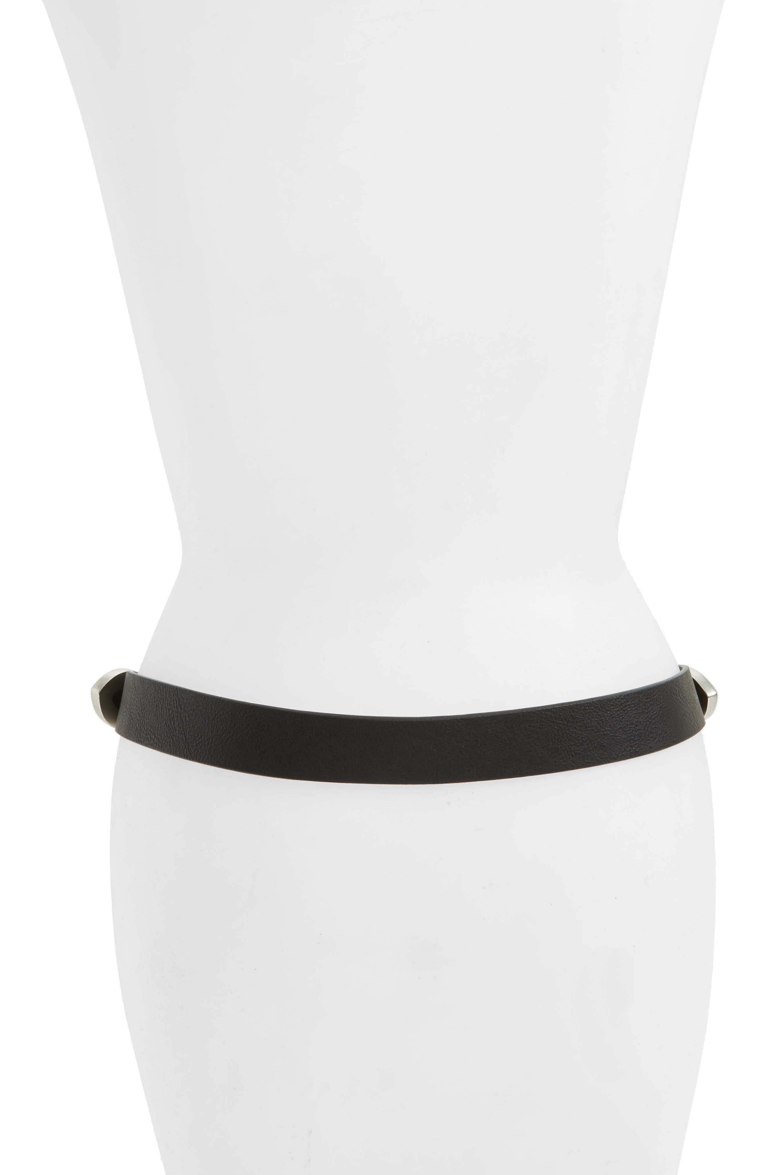 Alternate Image 2  - Topshop Double Buckle Faux Leather Western Belt